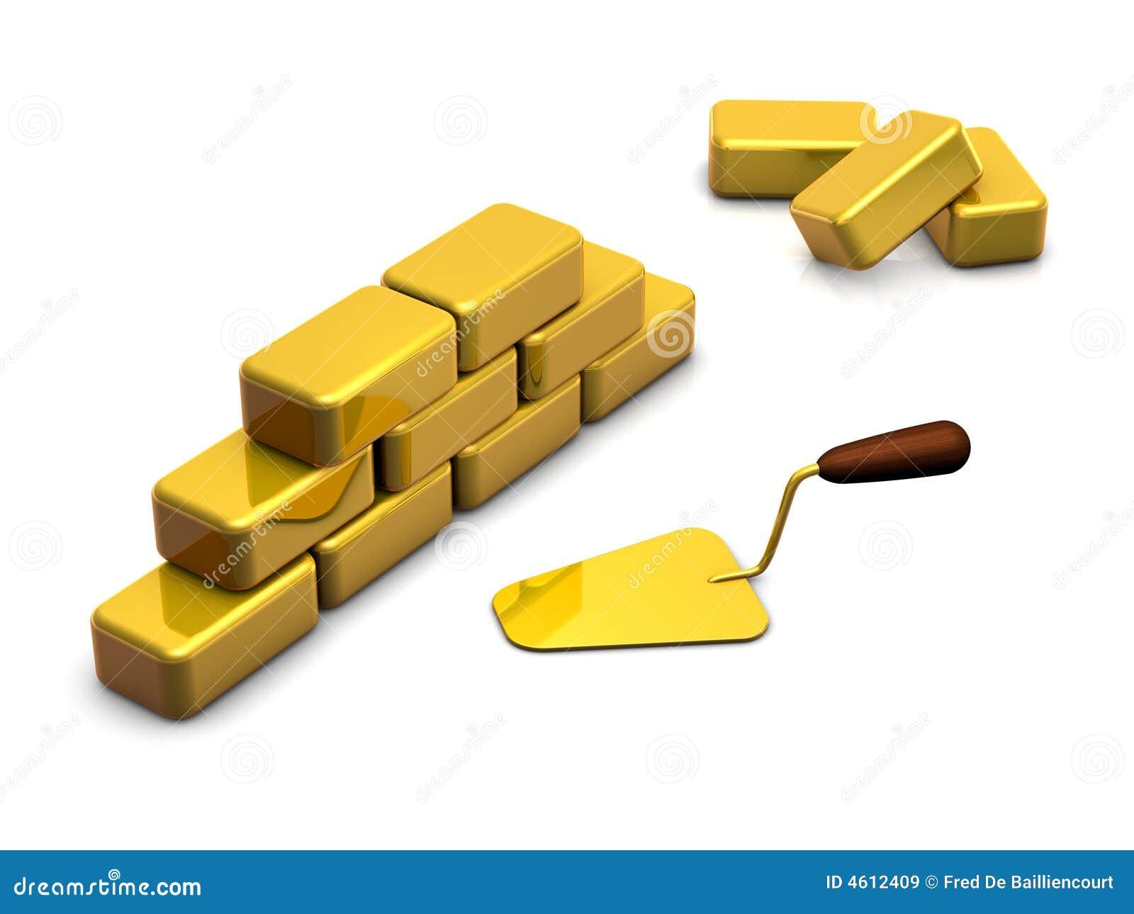 Blokuje złotą mur.