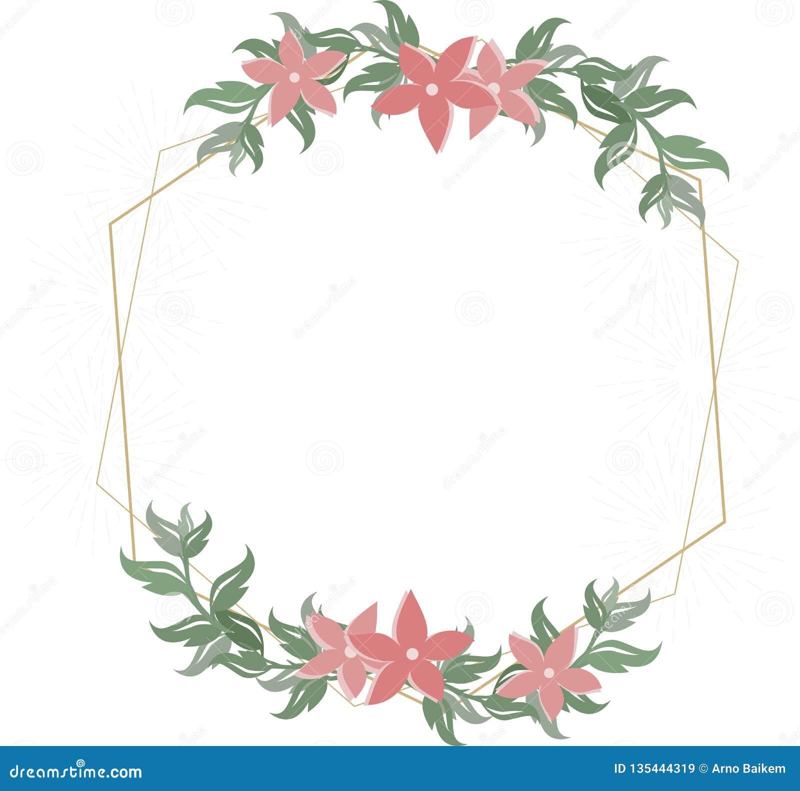 Blom- bröllopinbjudan