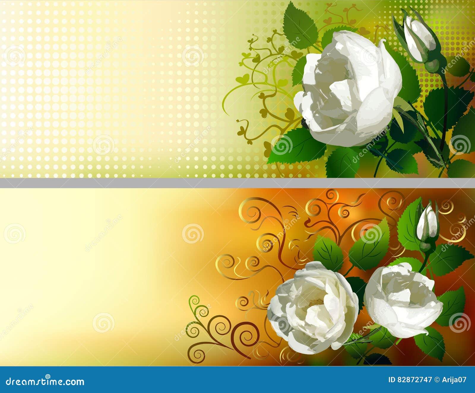 Blom- dekorerade baner