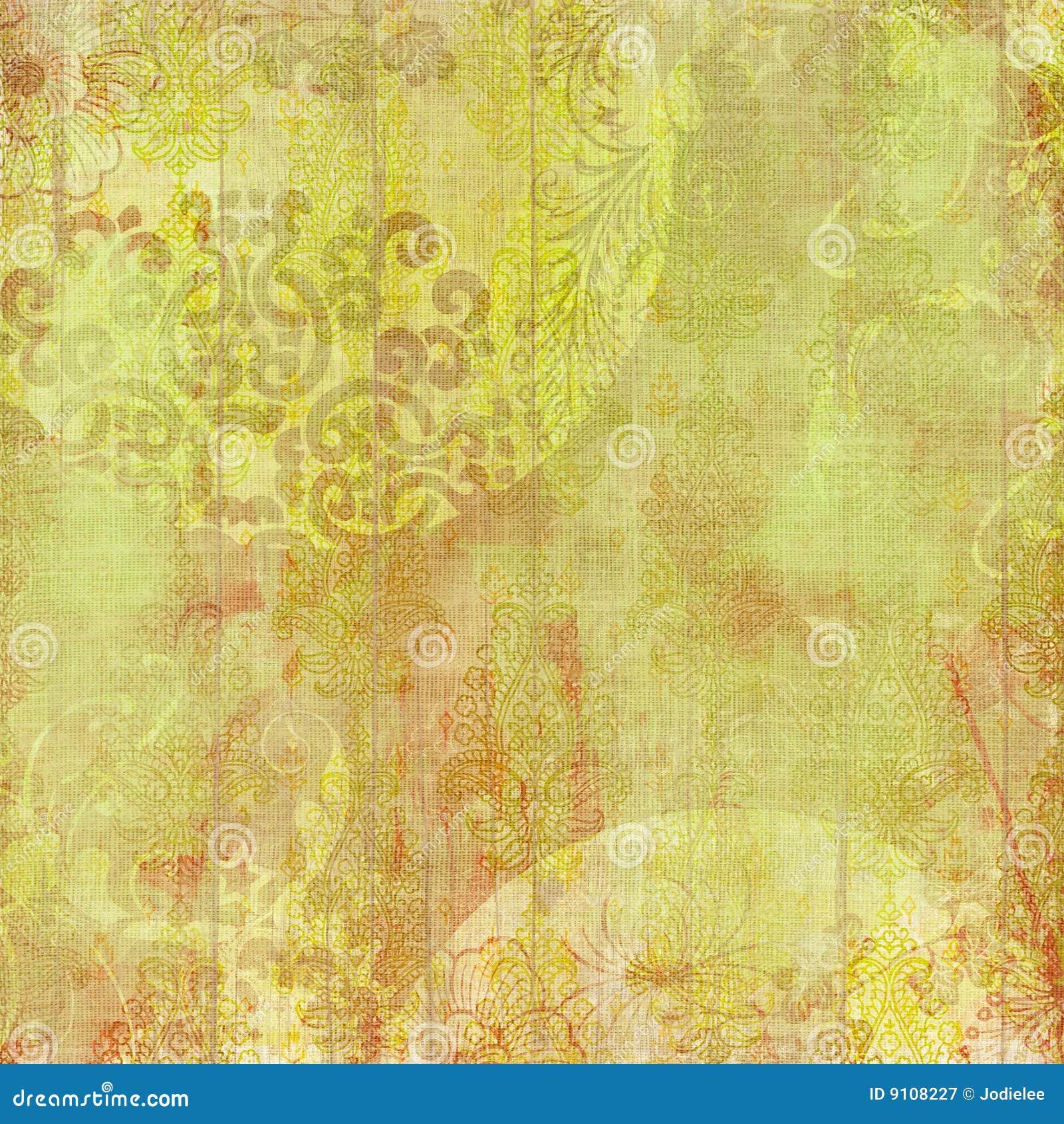 Blom- design för artistibakgrundsbatik