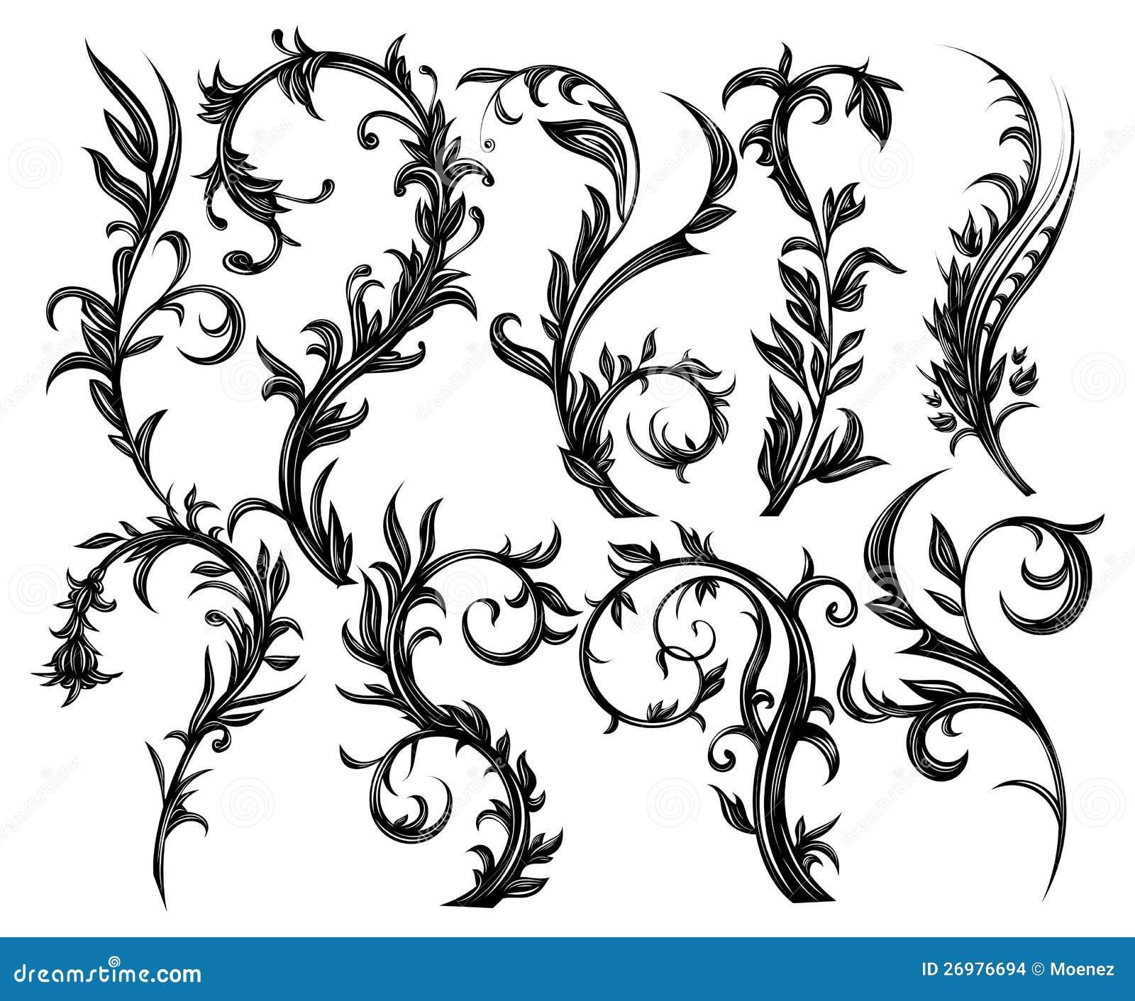 Blom- designelement