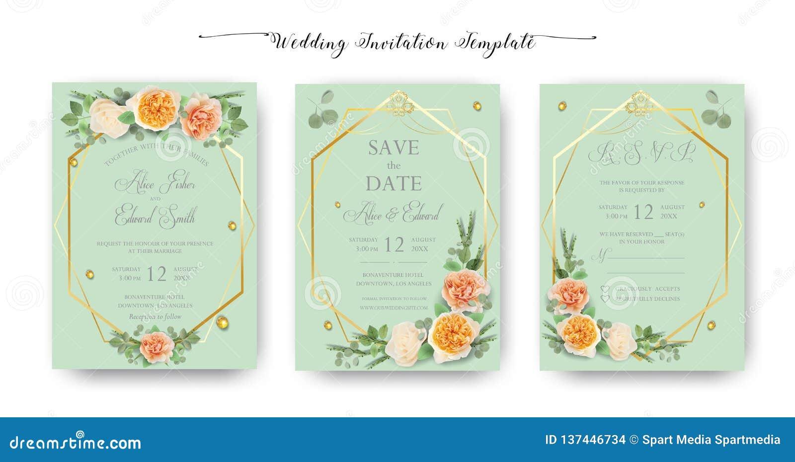Blom- gifta sig inbjudan, tacka dig, rsvp, sparar datumet, den brud- duschen, förbindelsedagen, kortmalluppsättningen, vattenfärg