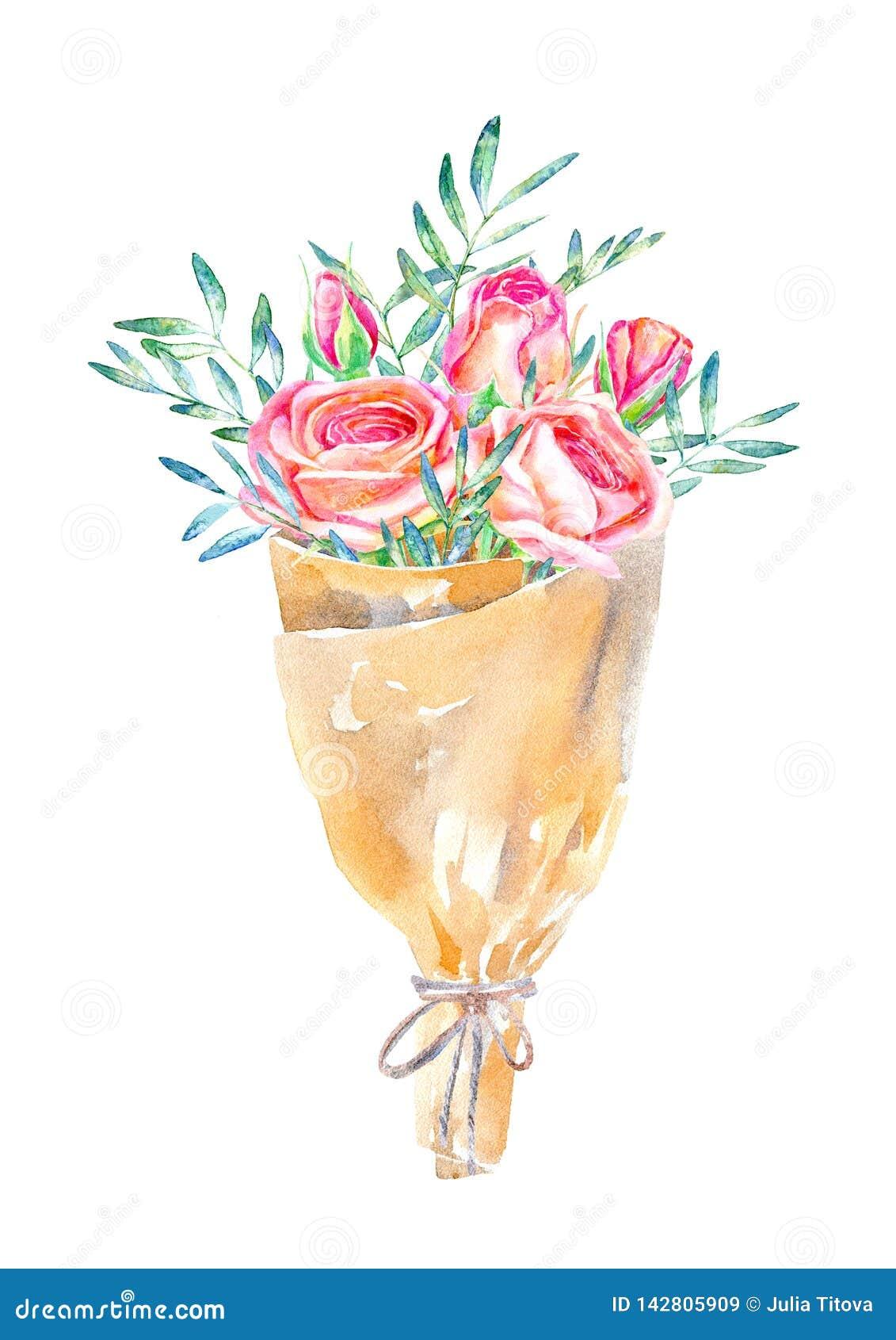 Blom- krans Pistaschfilial-, ros- och kraft papperspacke