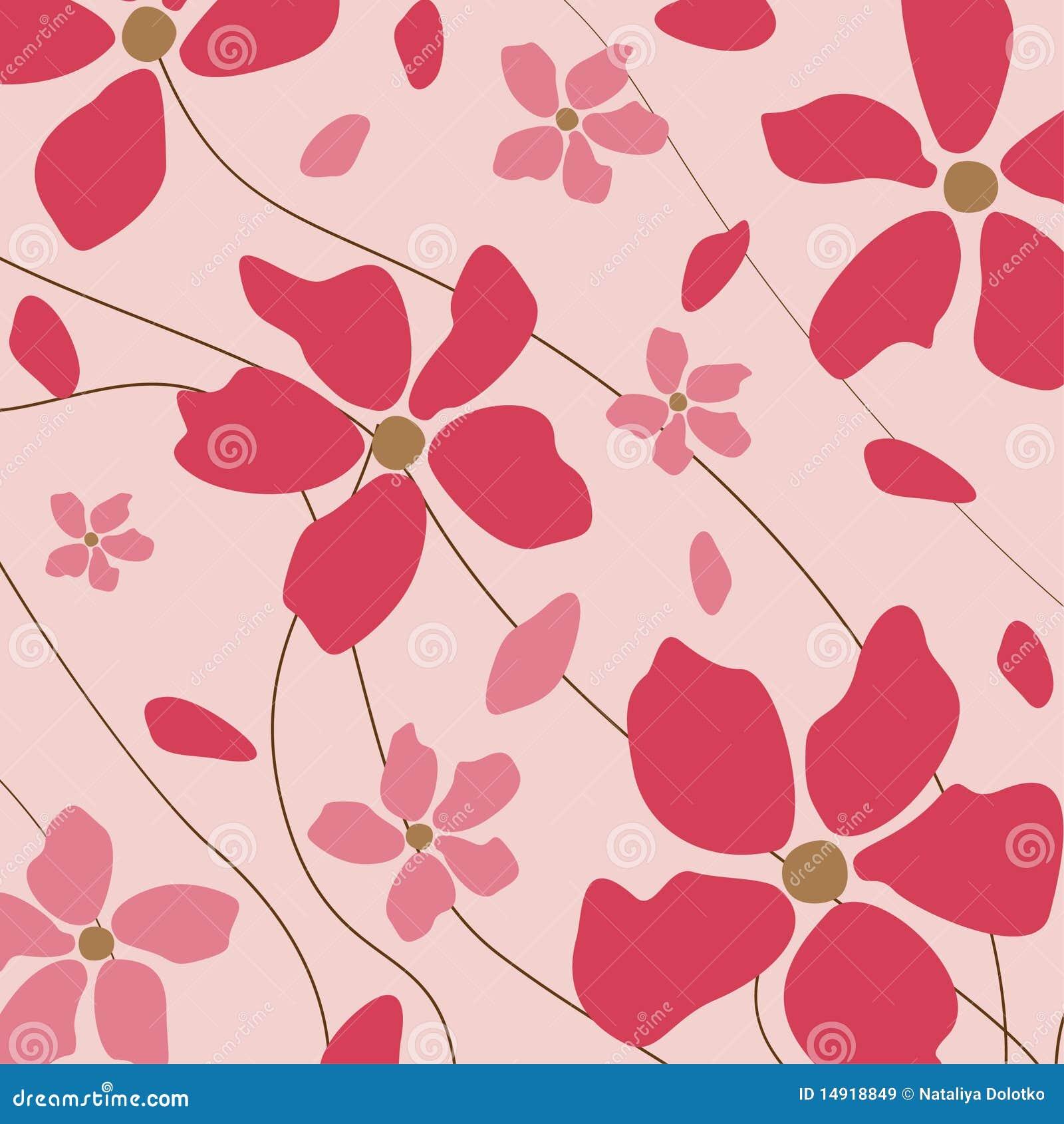 Blom- pink för bakgrund