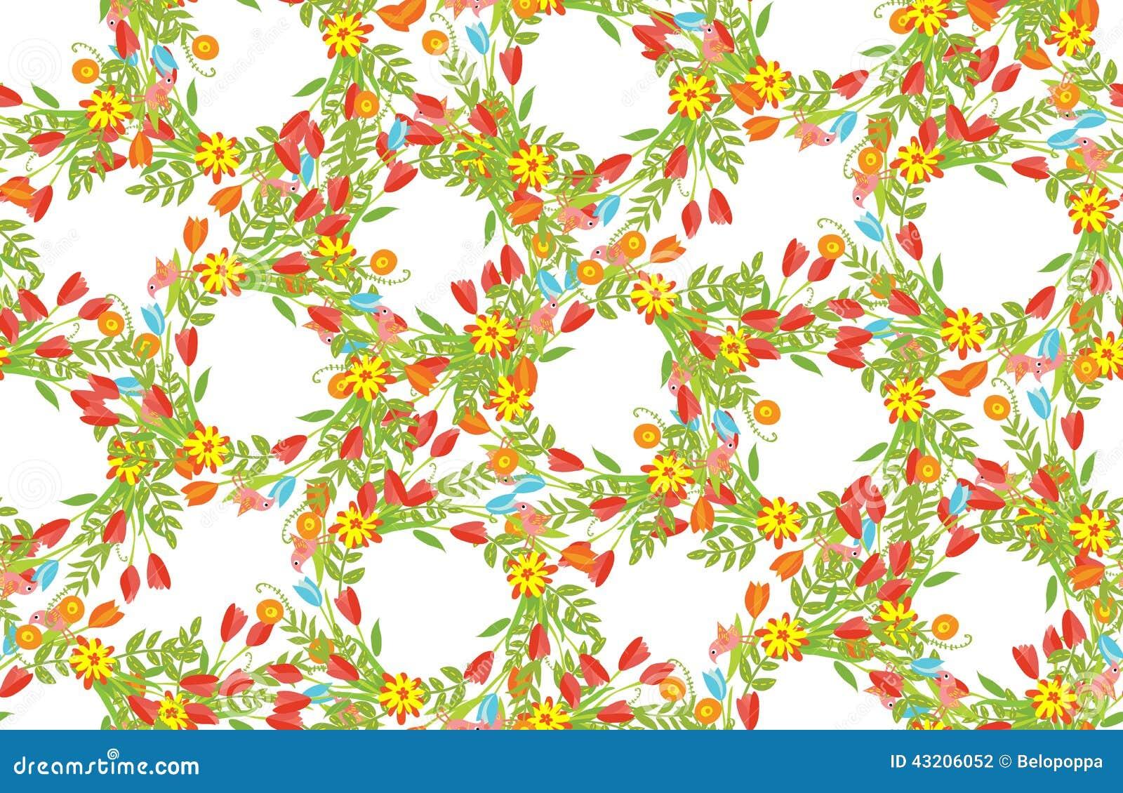 Download Blom- Ram Av Gulliga Retro Blommor Arkivfoto - Bild av blom, calligraphy: 43206052
