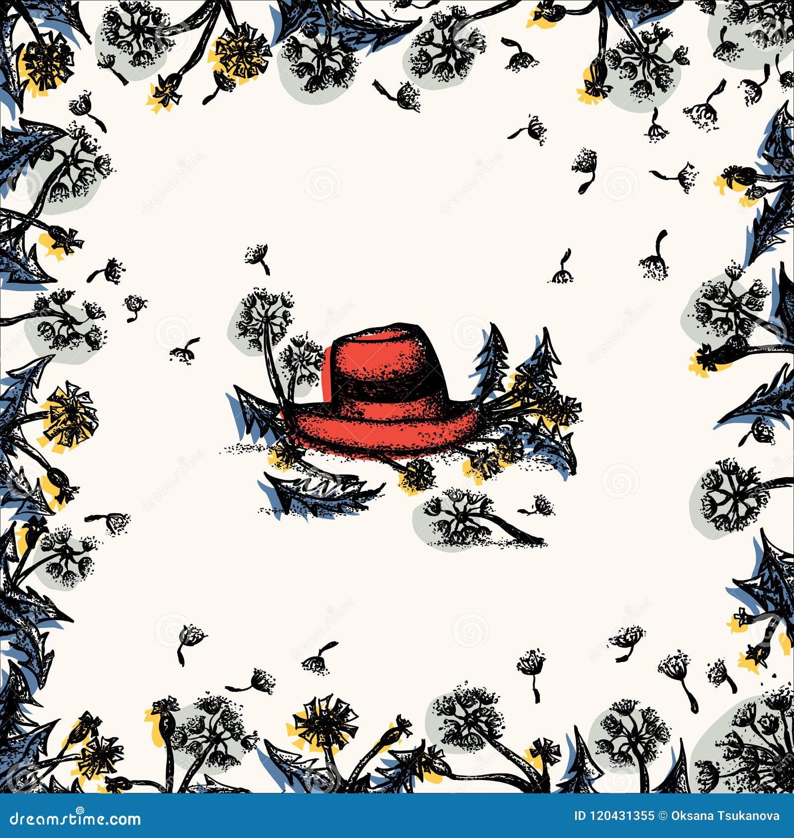Blom- ram för maskros med den röda hatten