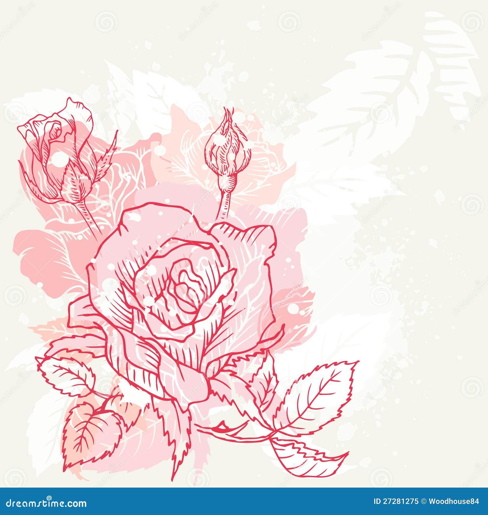 Blom- robakgrund