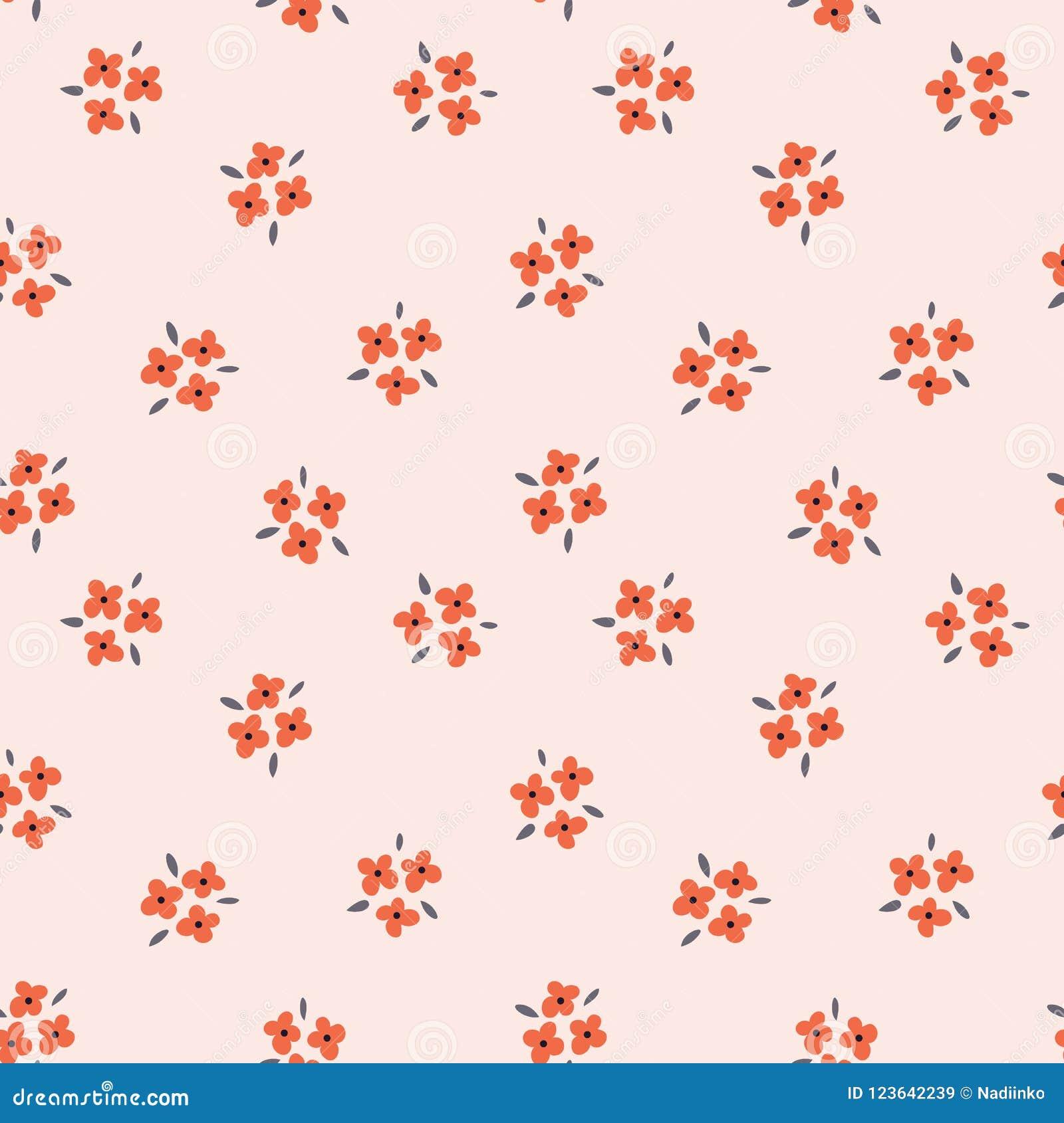 Blom- sömlös modell med röda blommor på rosa bakgrund Upprepad ljus bakgrund, mjuk textiltextur brigham