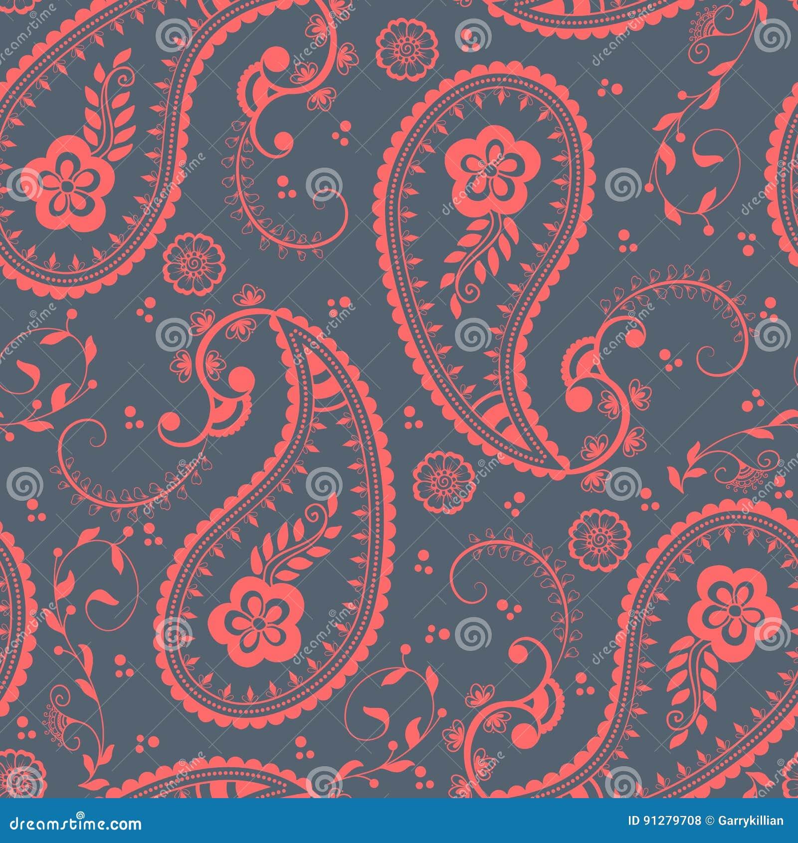 Blom- sömlös modellbeståndsdel för vektor i arabisk stil Arabesquemodell Östlig etnisk prydnad Elegant textur för