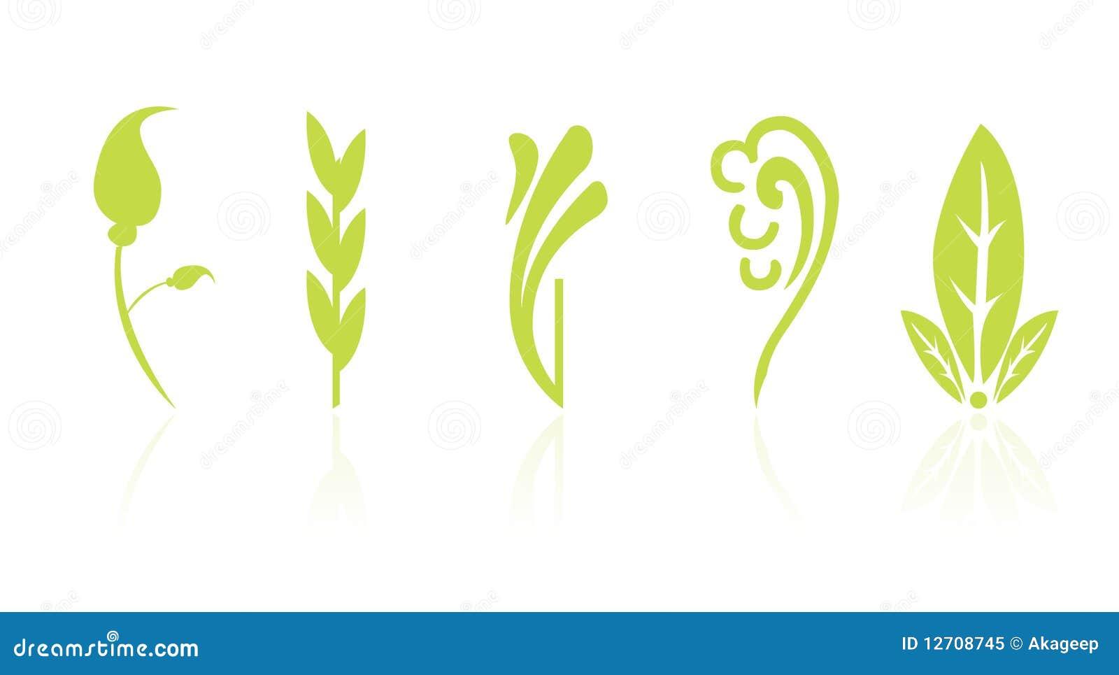 Blom- symbolsleaf