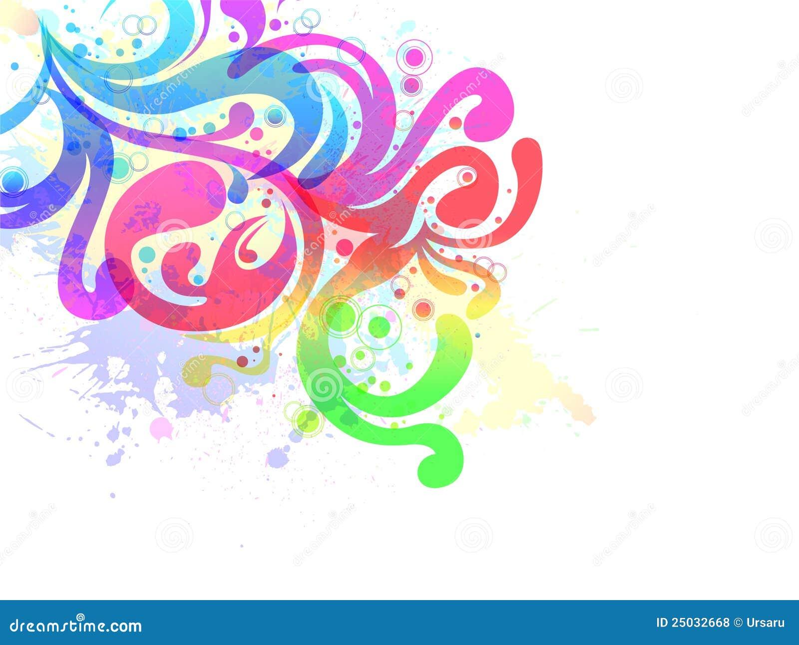 Blom- vattenfärg för bakgrund