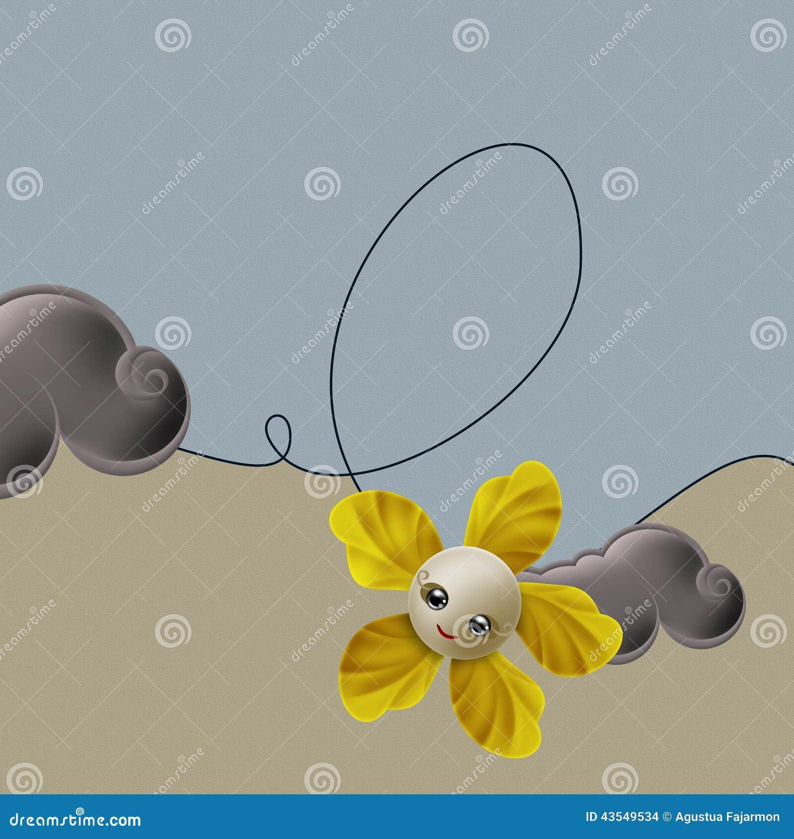 Blomma och virvel