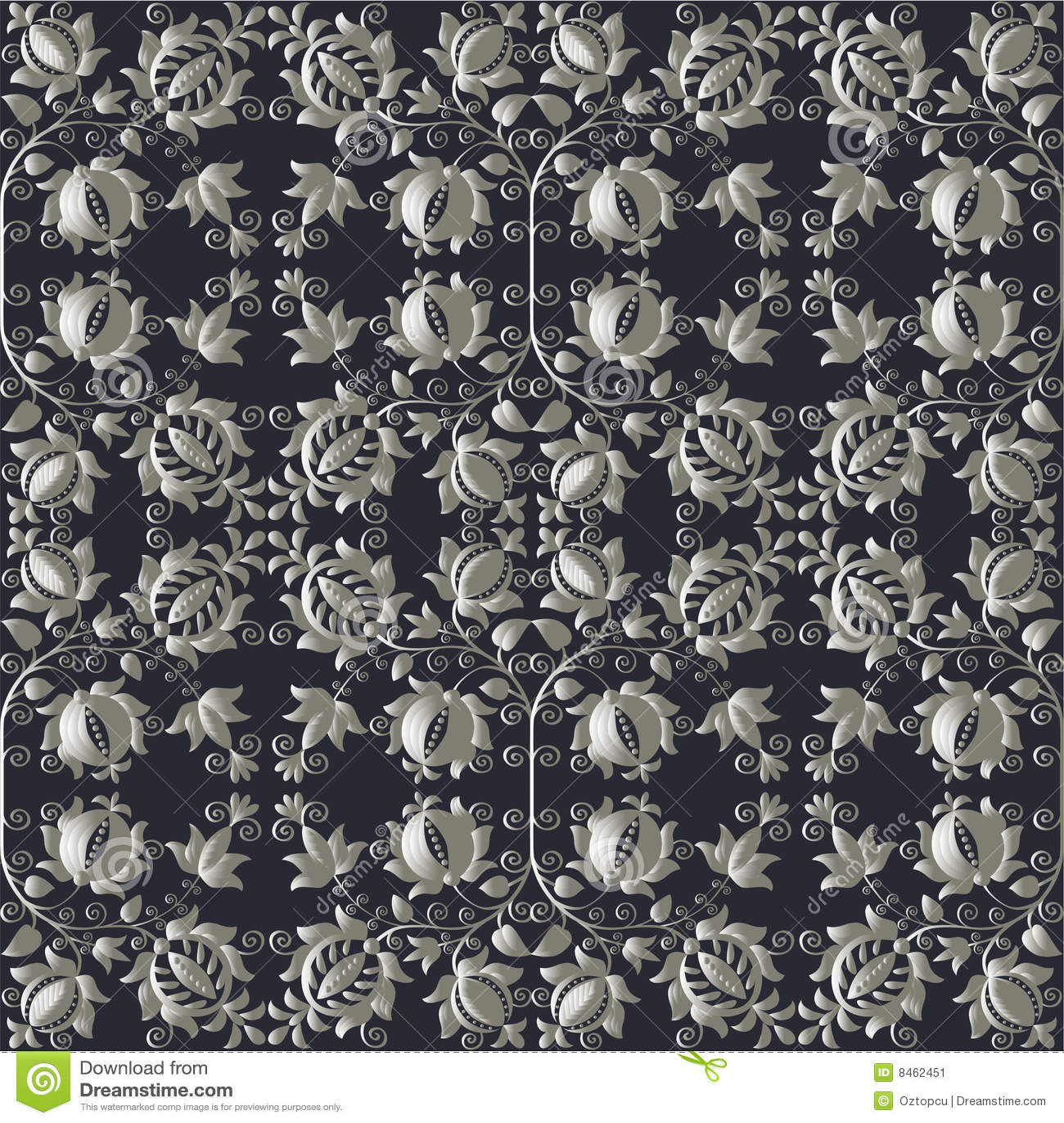 Blommametallwallpaper