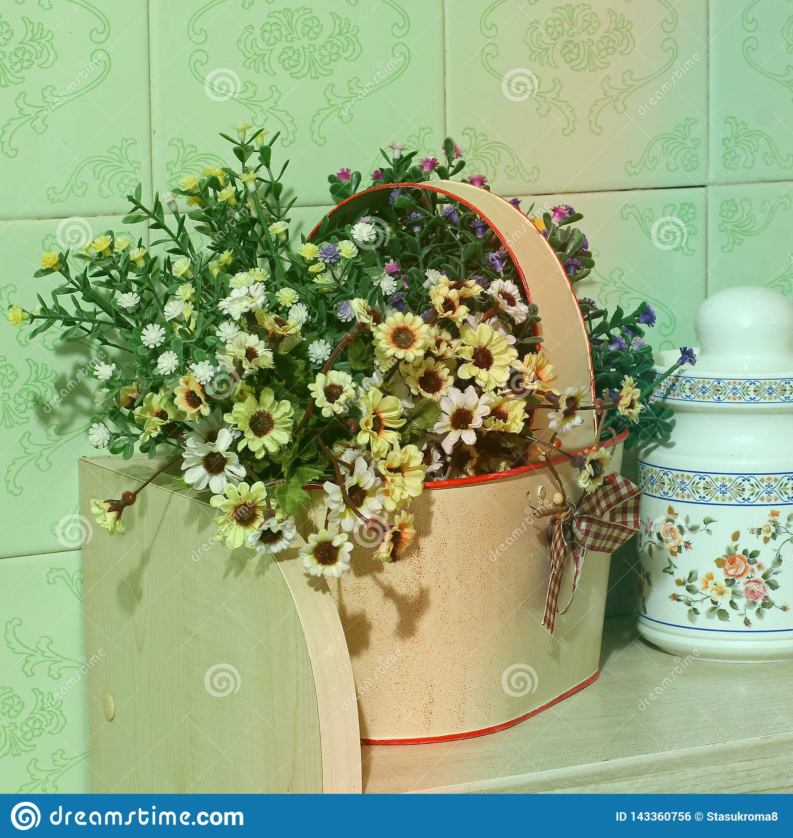 Blommar kök Hem- dekor