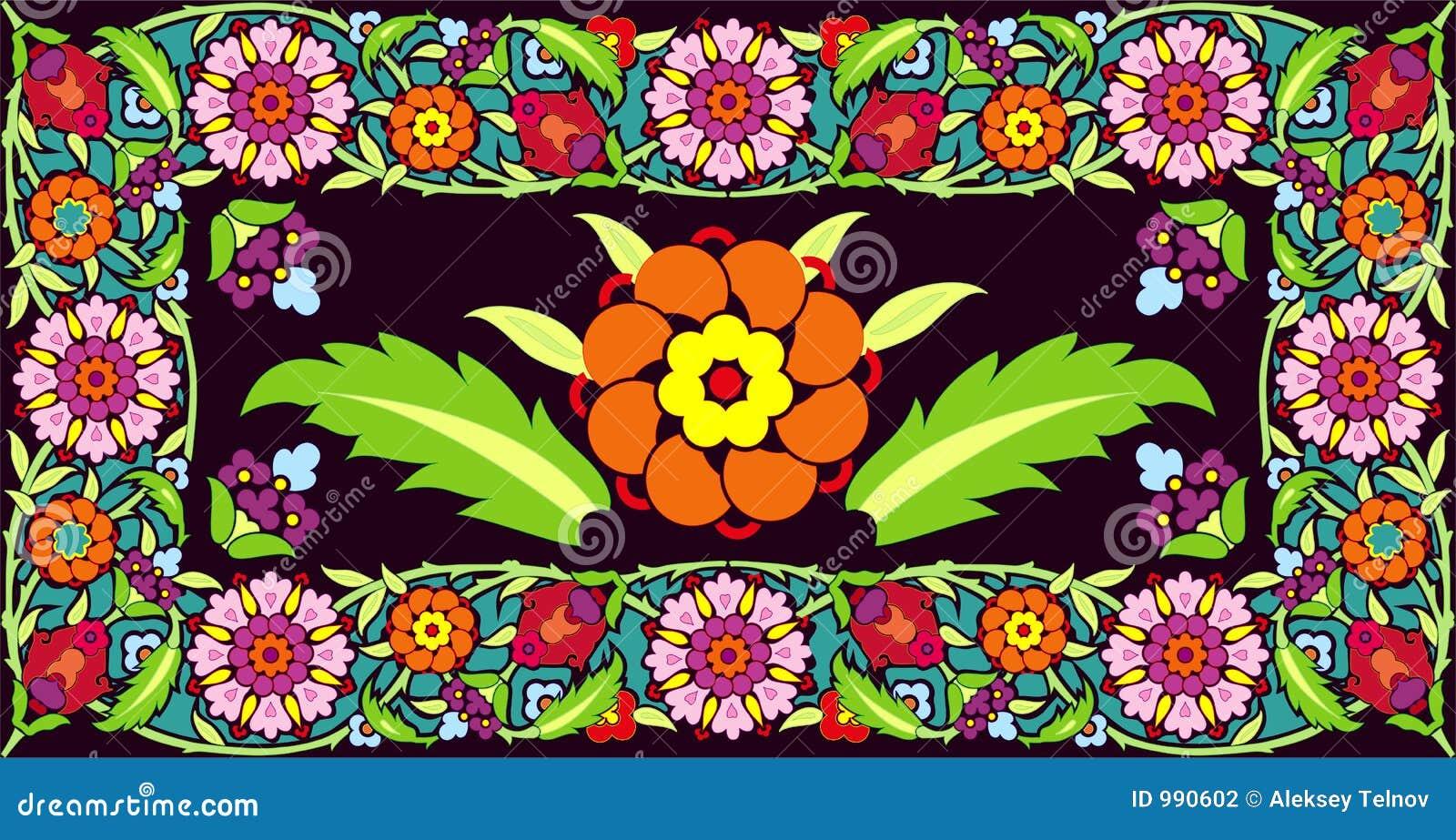 Blommaramvektor