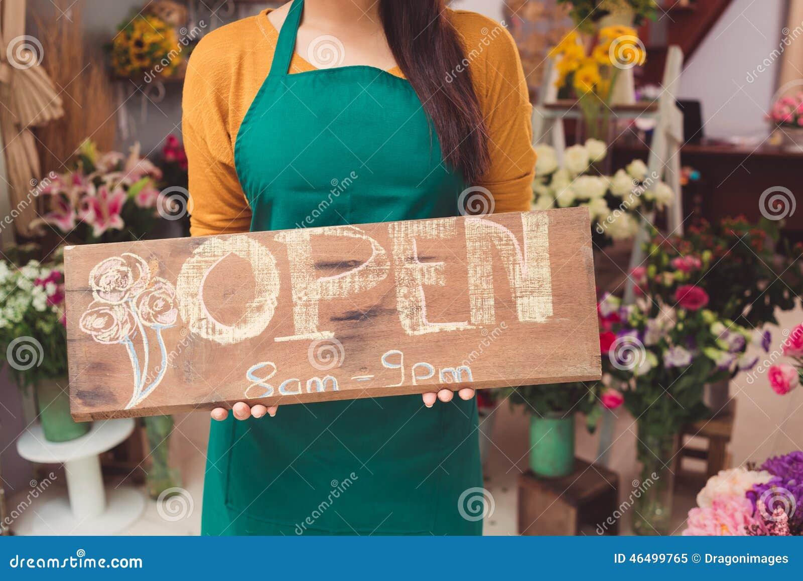Blomsterhandeln är öppen