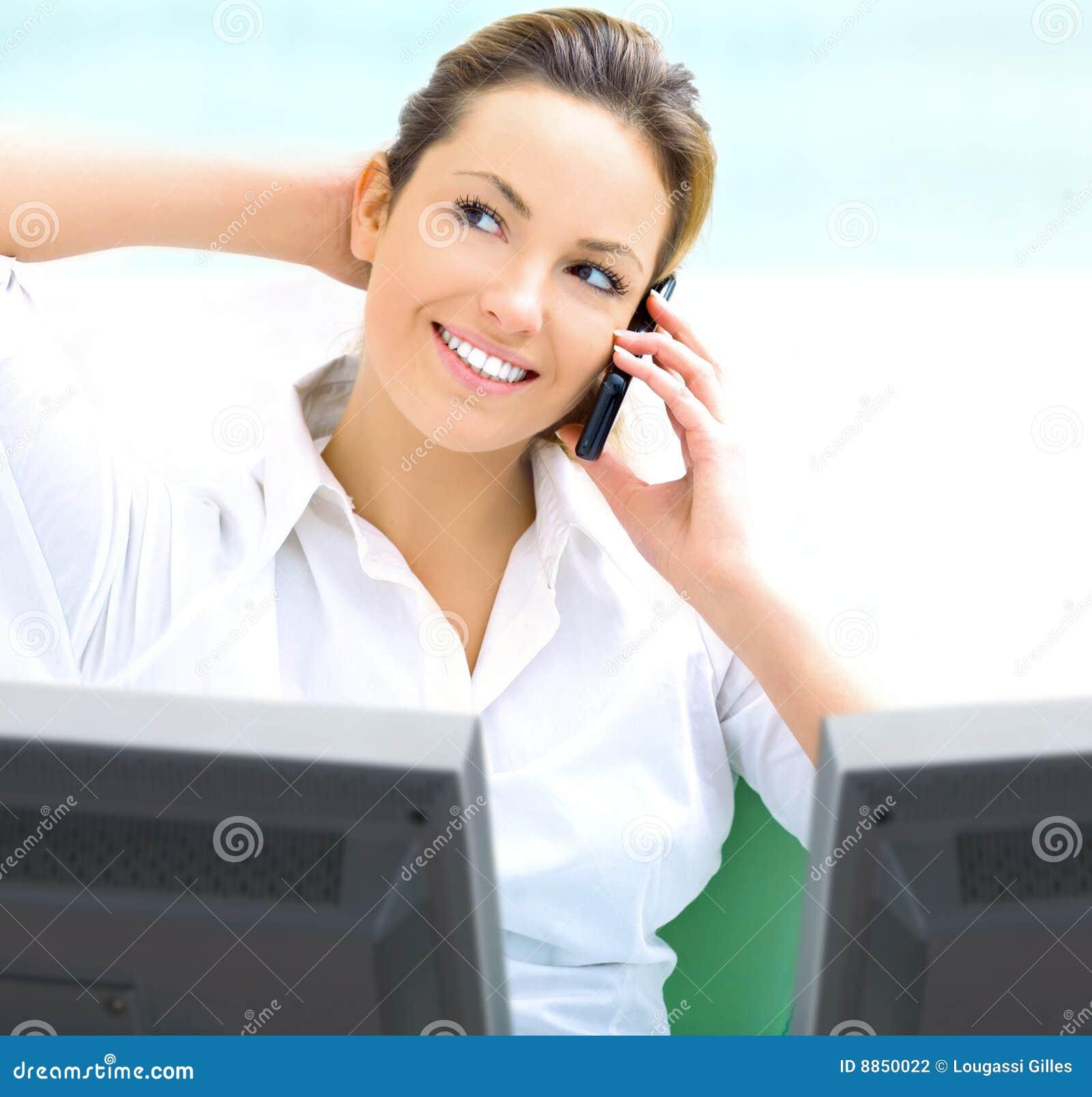 Blond business woman