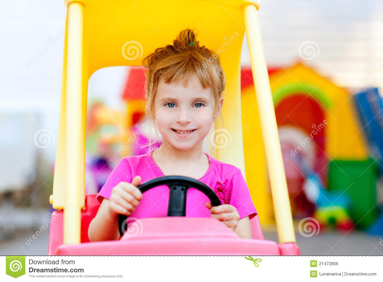 blond children girl driving toy car - Cars For Girls To Drive Kids