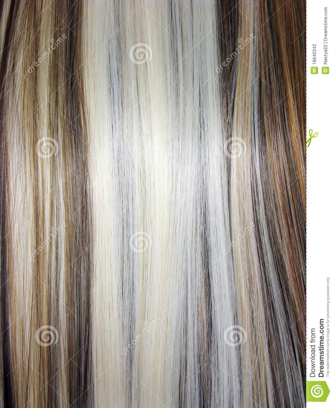 Blond And Dark Brown Hair Texture Stock Photo Image