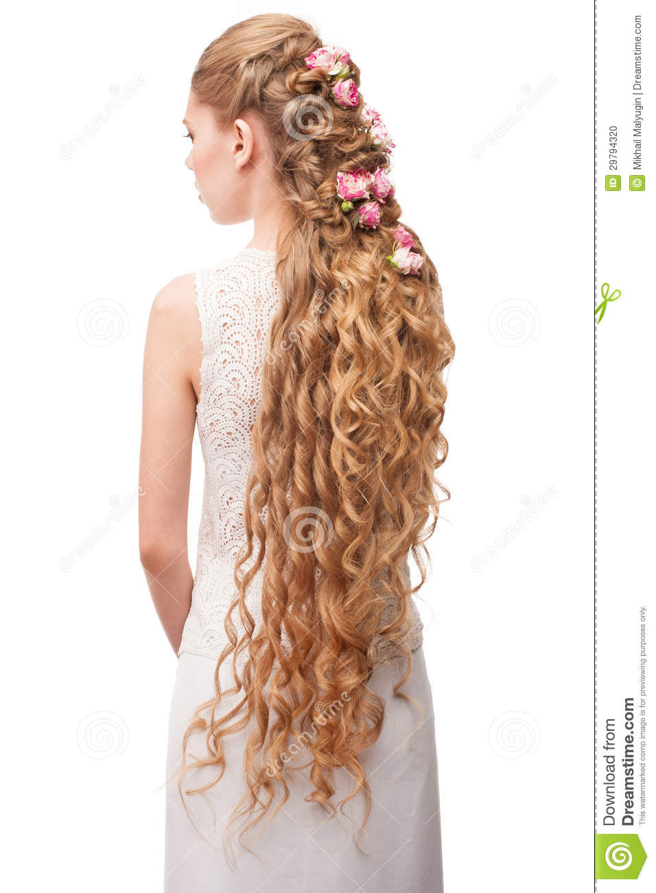 woman with curly long hair stock photo - image: 29794320