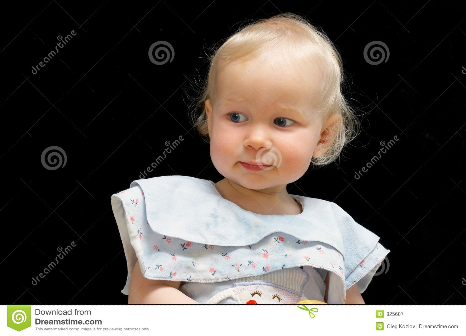 Blond haired female toddler