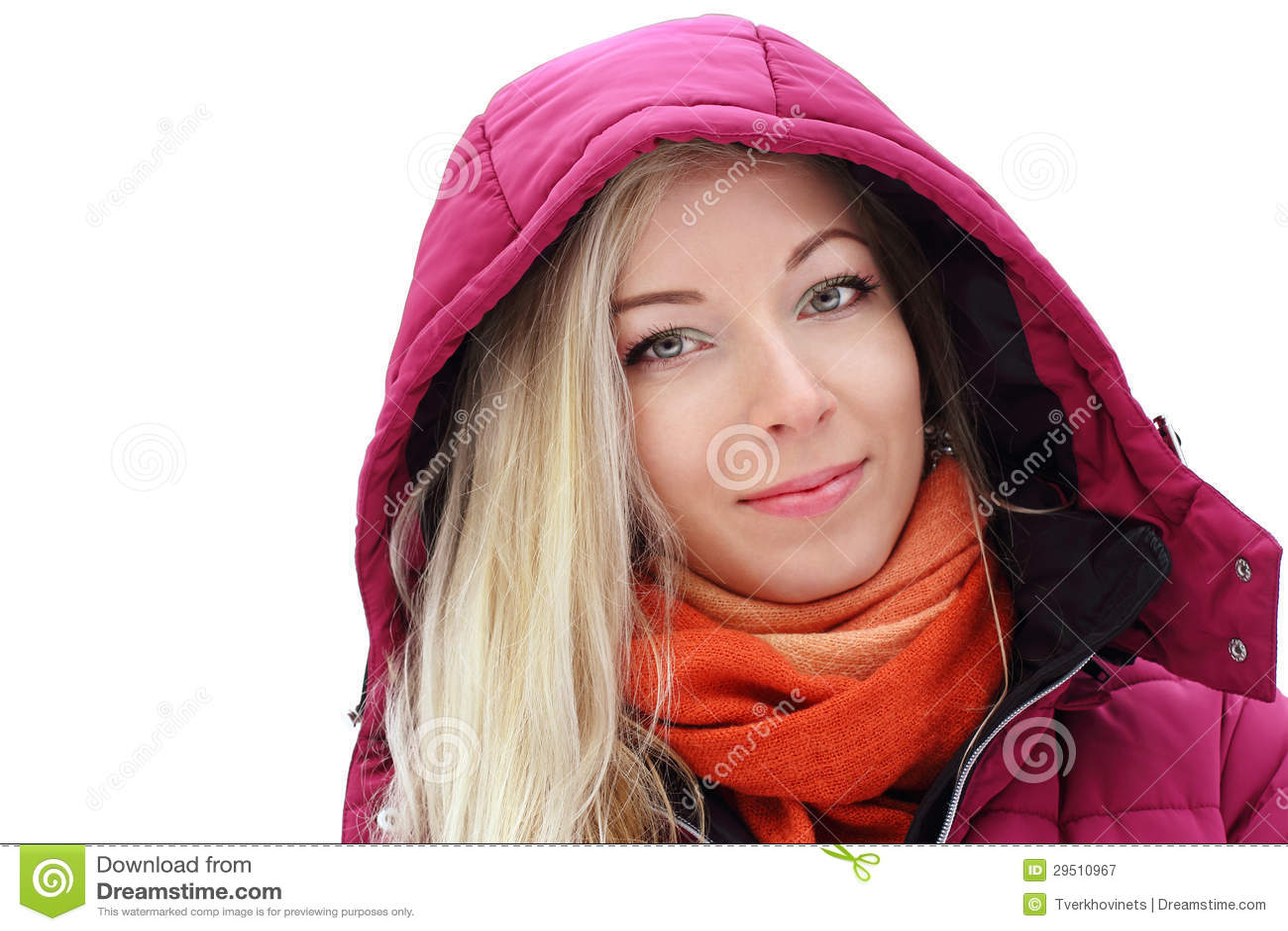 Blond meisje onder de kap