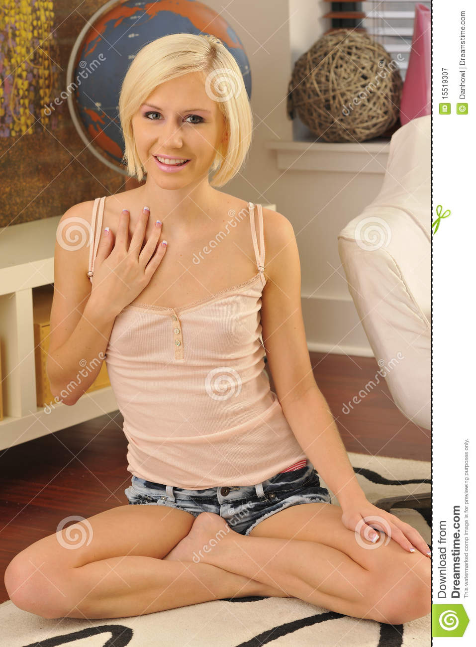 Blond Model Legs Crossed Stock Image Image Of Healthy