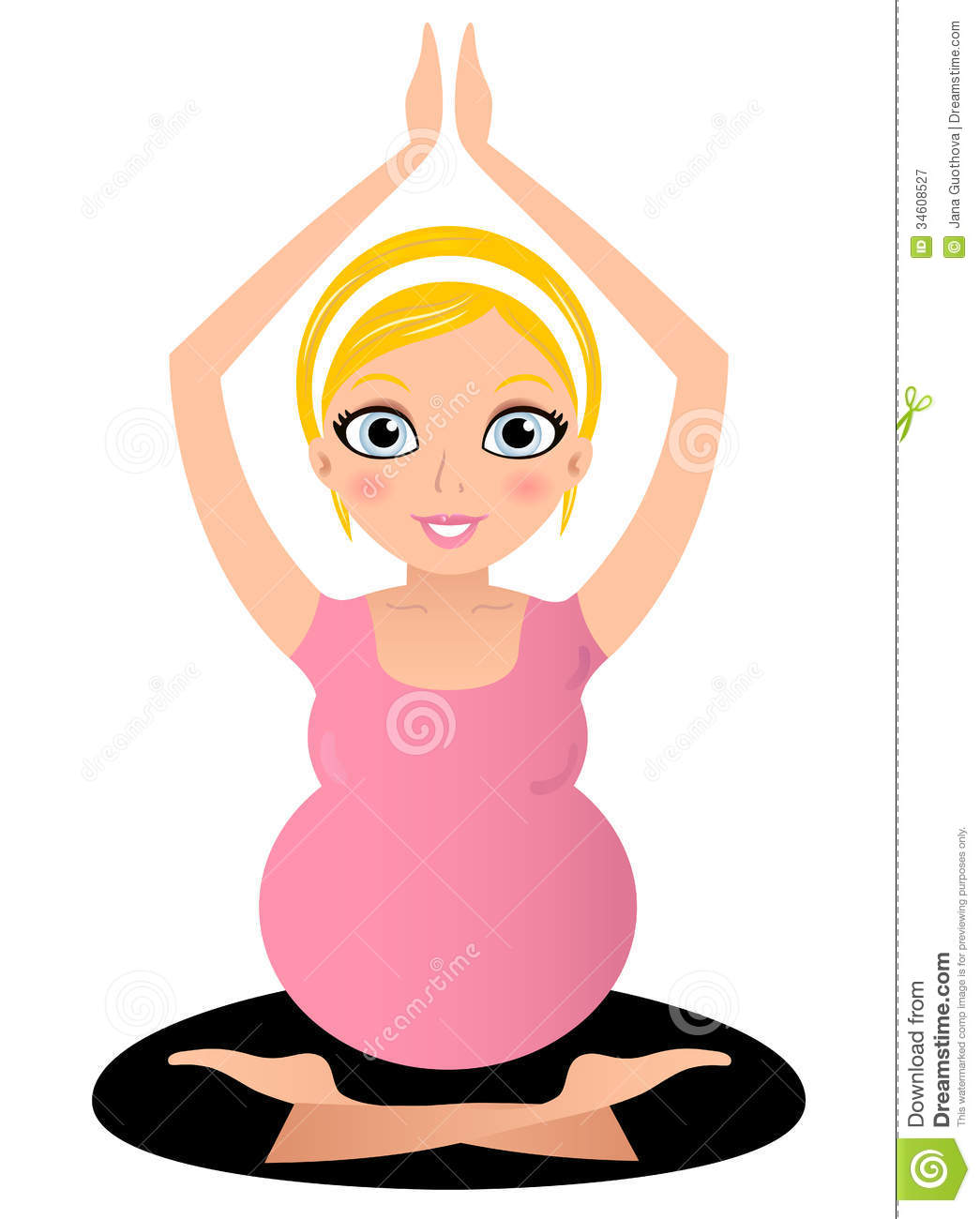 blond pregnant yoga woman royalty free stock photography Baby Clip Art Pregnant Women