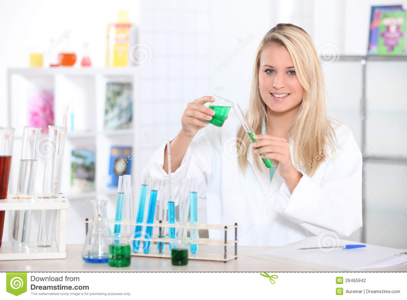 Blond Scientist In Lab Stock Photography Image 26465942