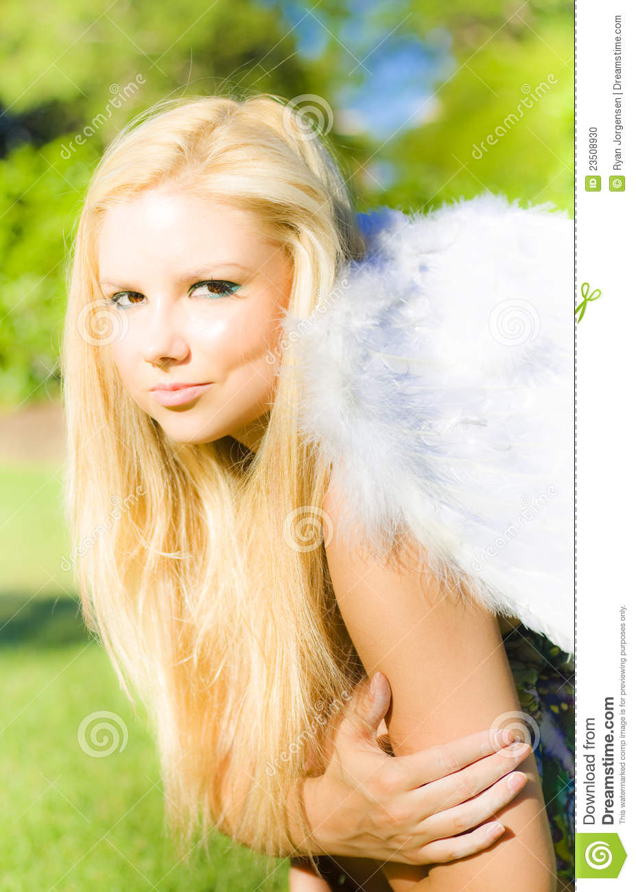 The blonde angel