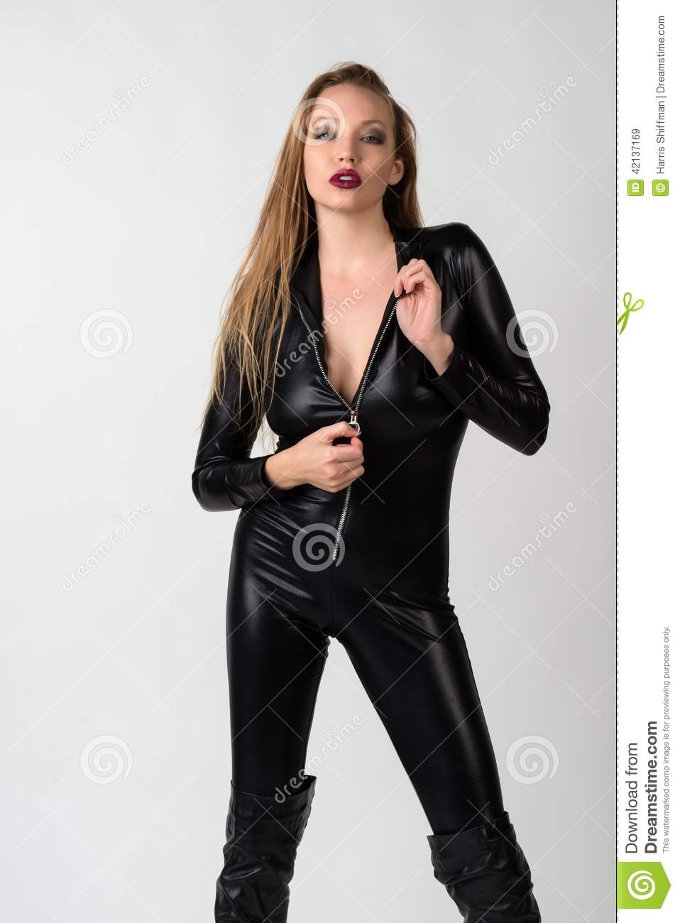 Understand Blonde latex catsuit think, that