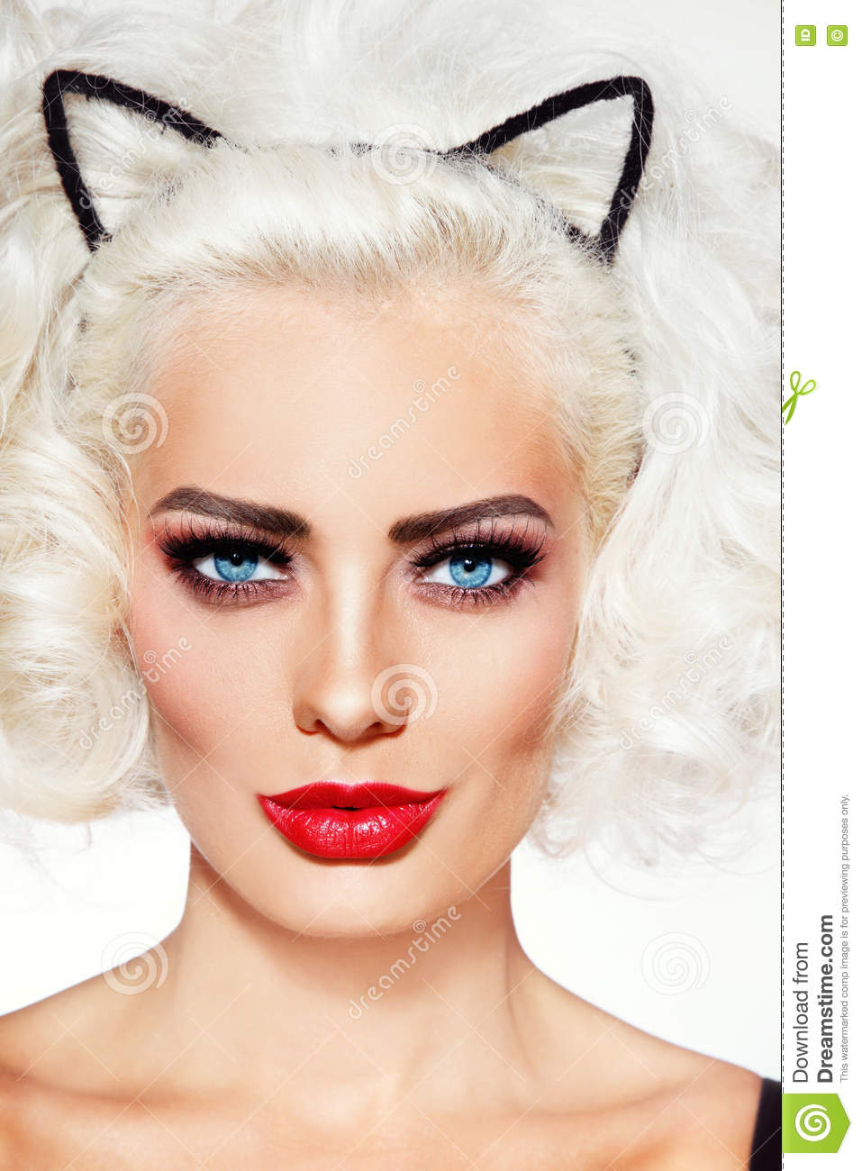 Blonde Beauty Stock Image Image Of Eyebrows Attractive 76403353