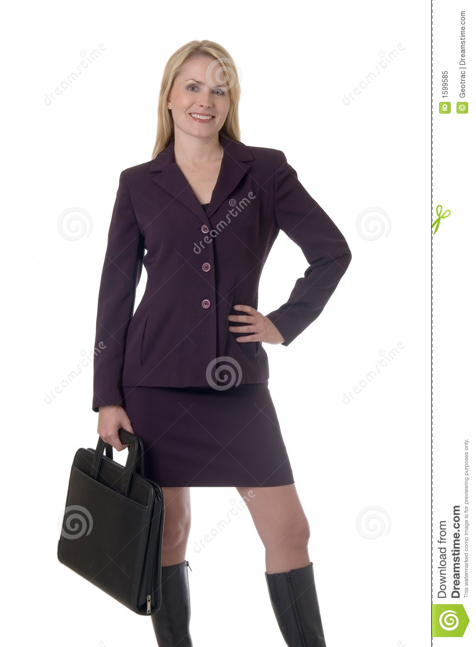Blonde business woman stock image. Image of blonde, career ...