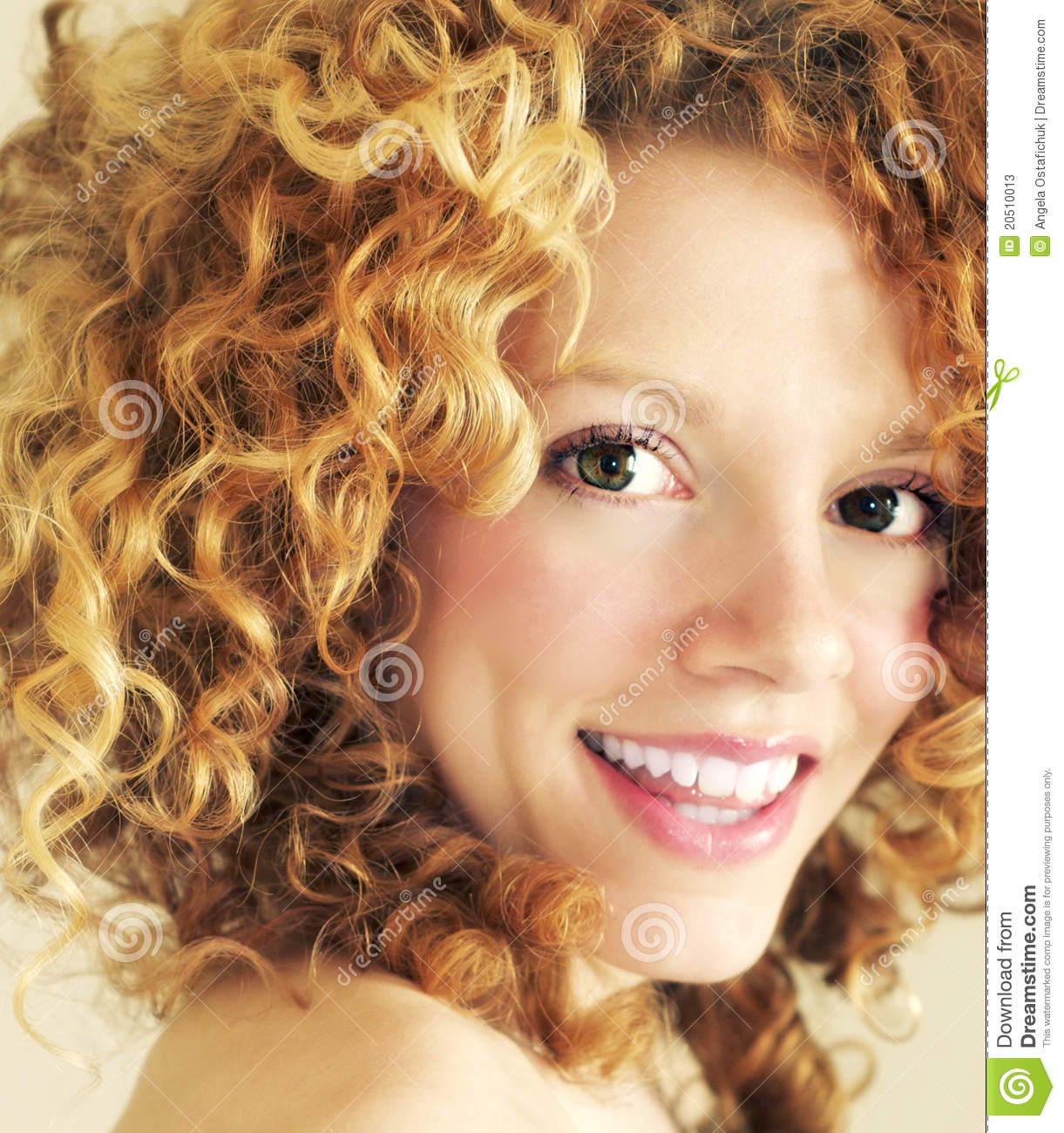 Blonde Curls And Happy Smile Stock Photos Image 20510013