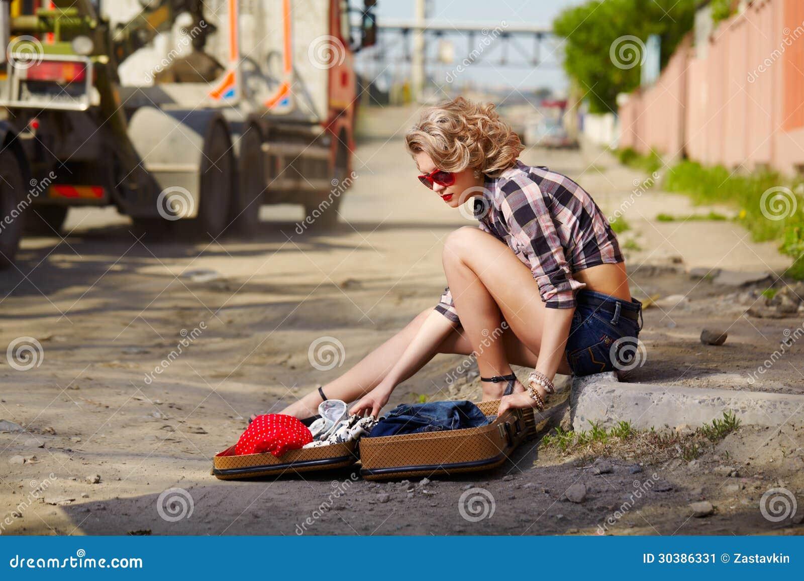 Flashing hitchhiker