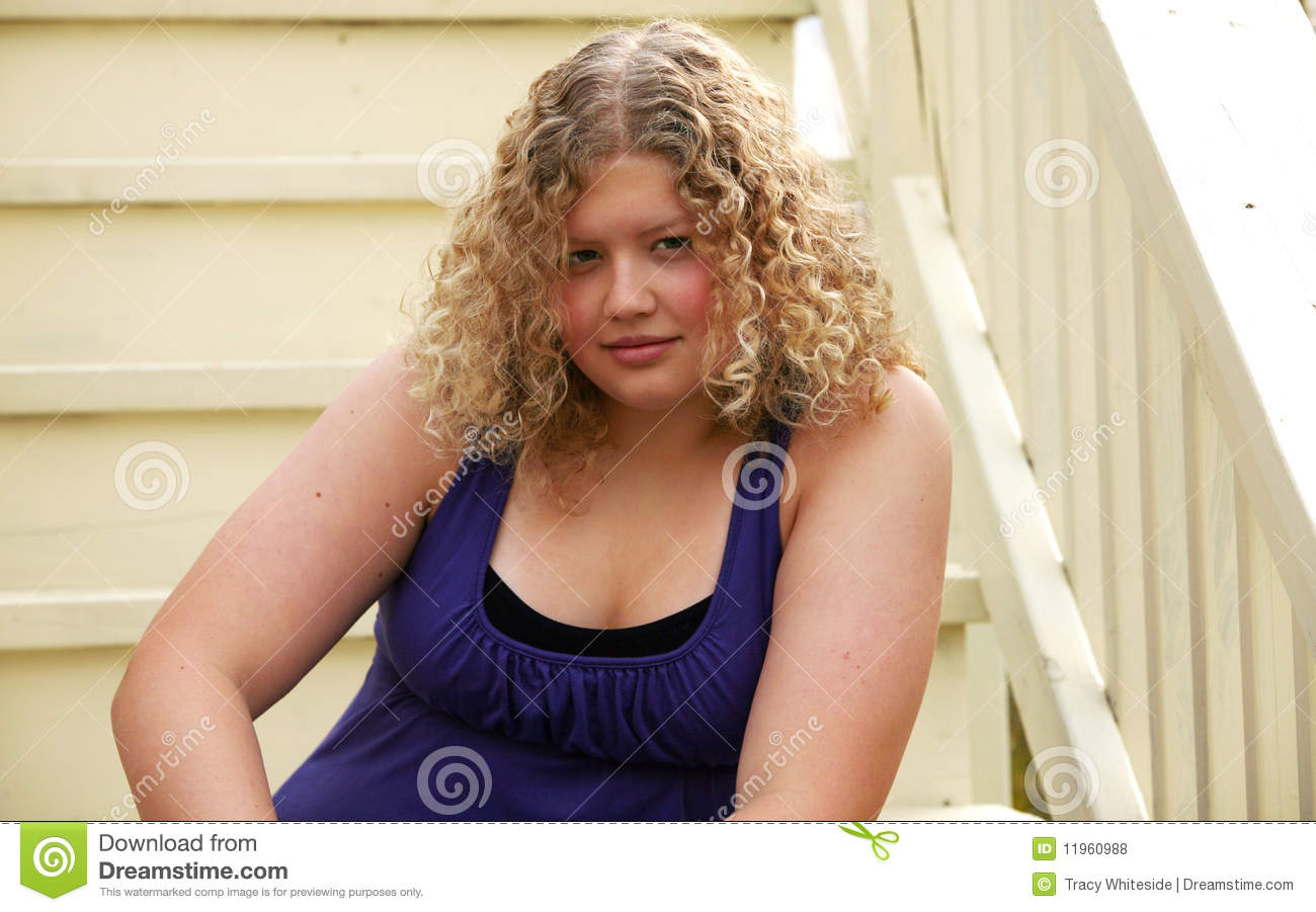 Chubby blonde curly