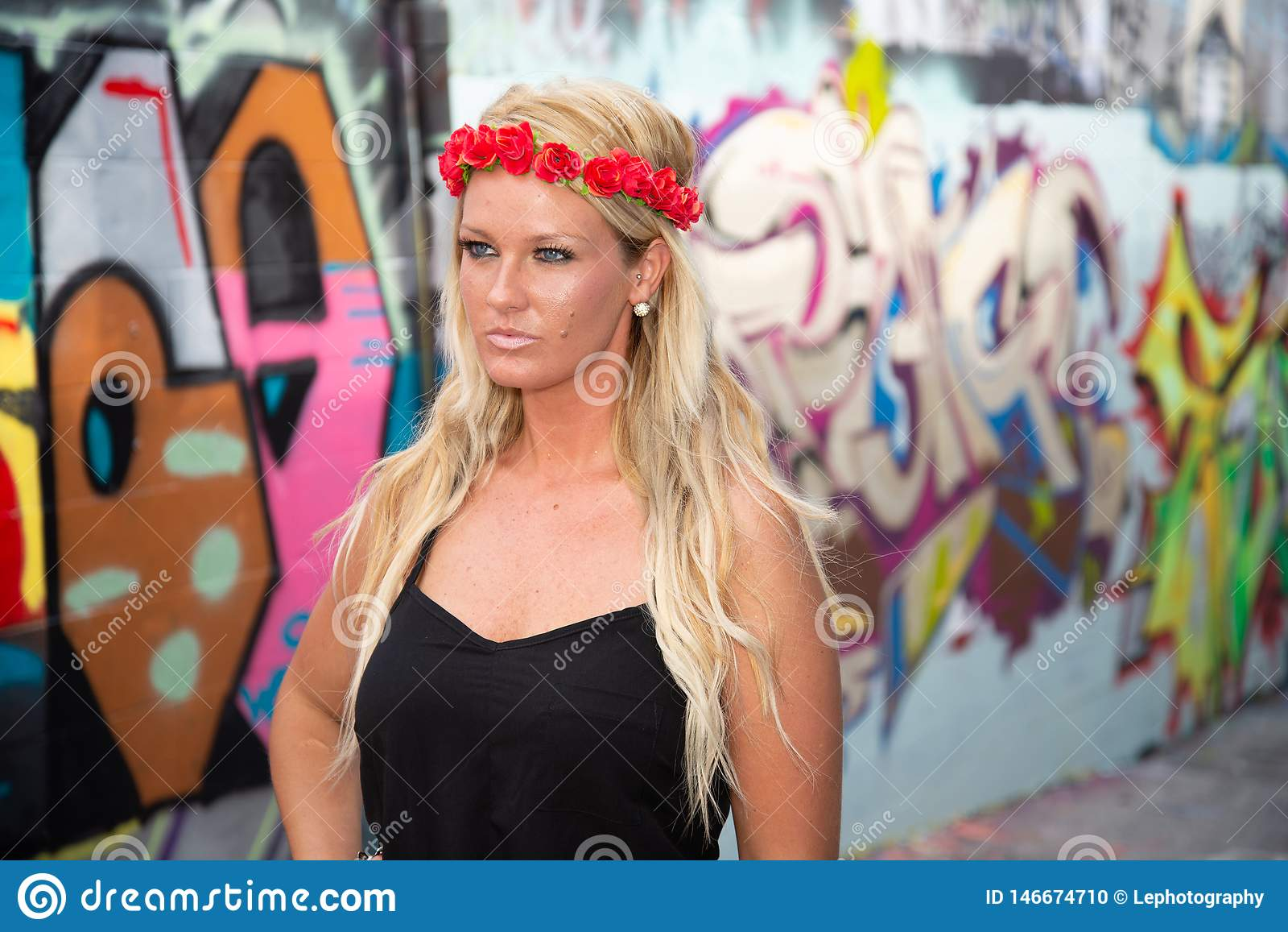Blonde girl woman