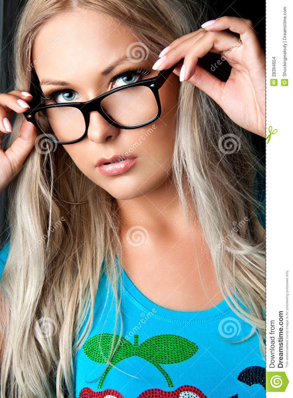 Blonde With Glasses Stock Images Image 28394654