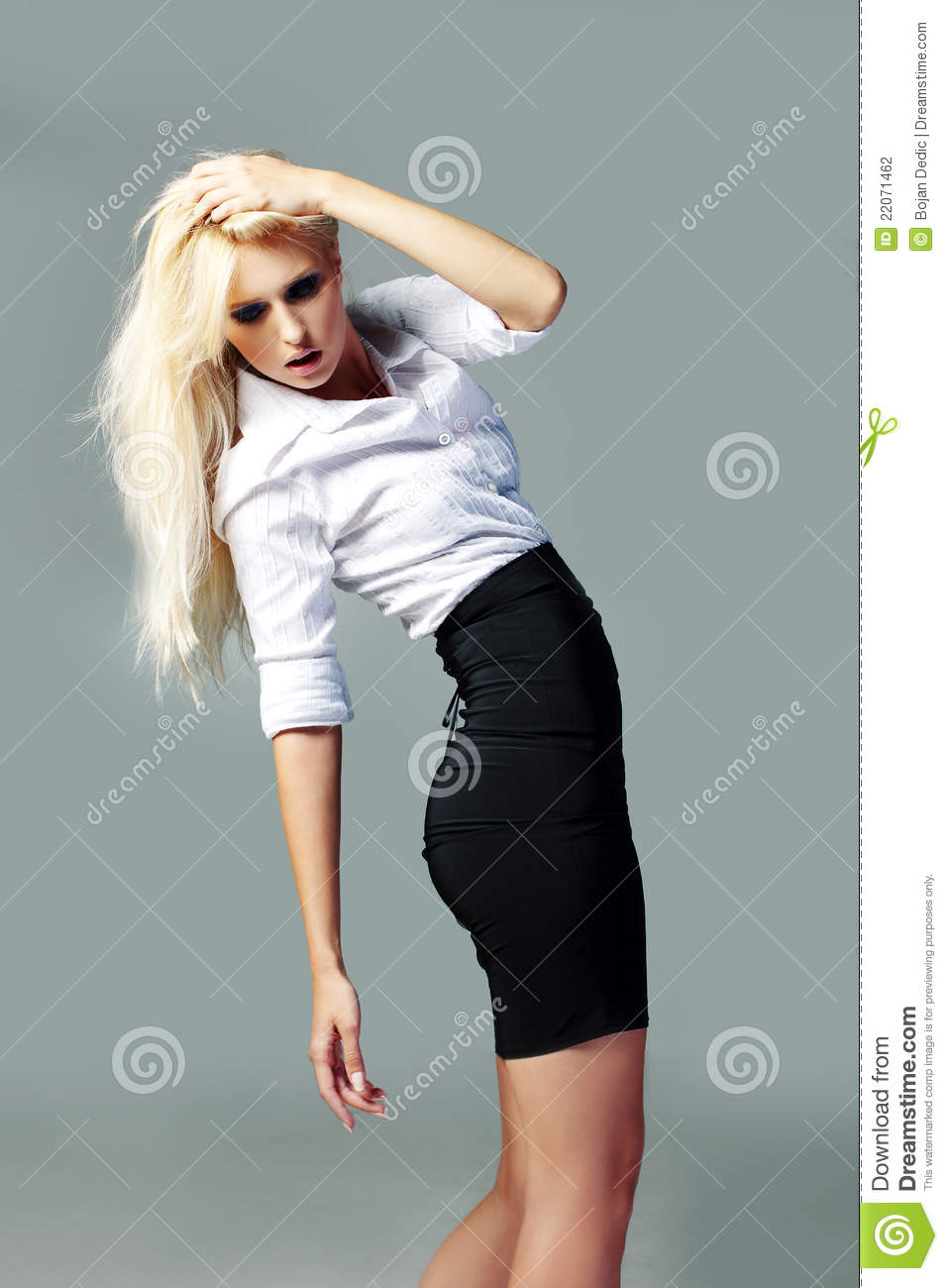 Blonde Good Looking Business Girl Stock Photo Image