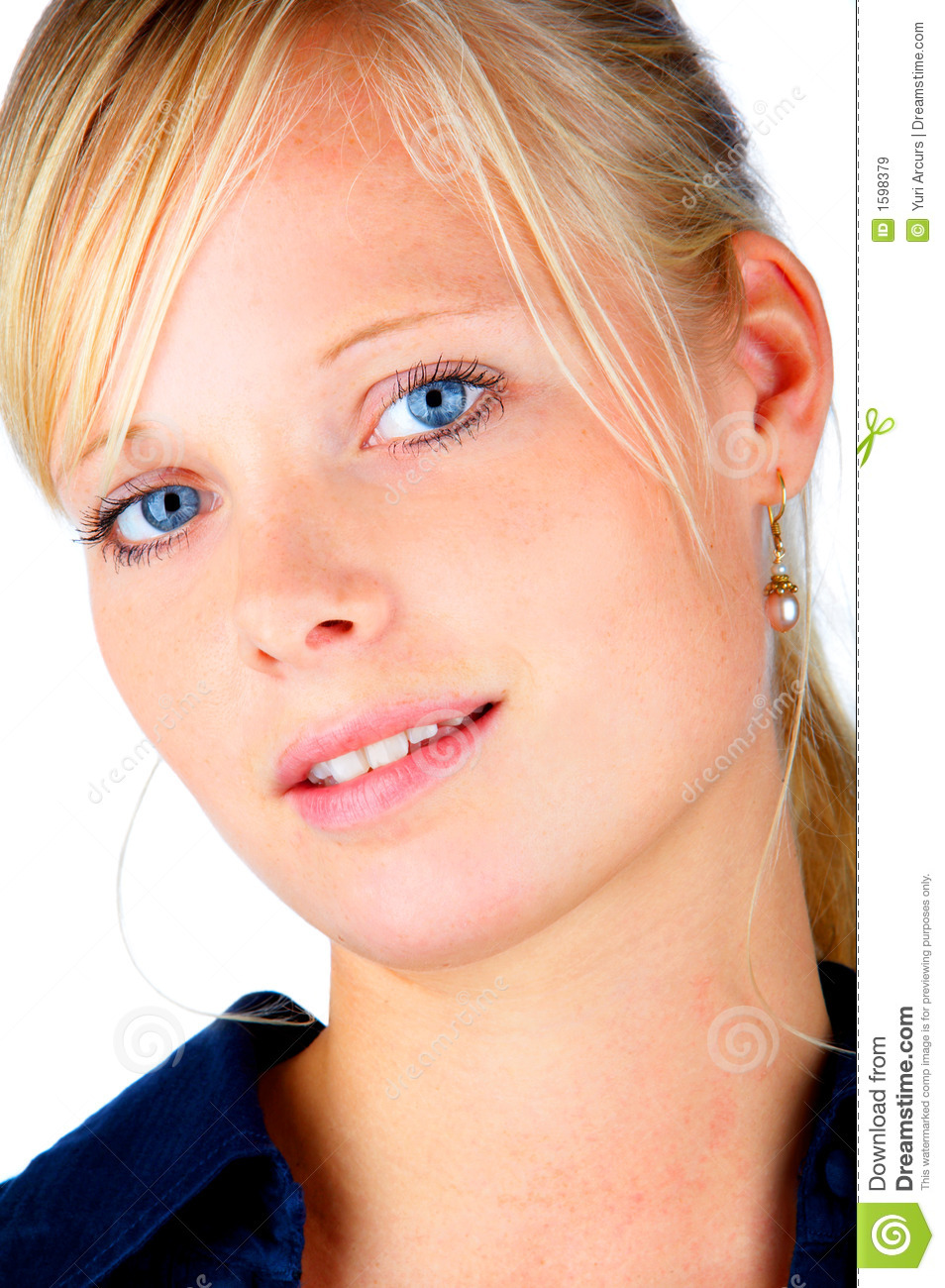 blonde hair and blue eyes stock image image of girl