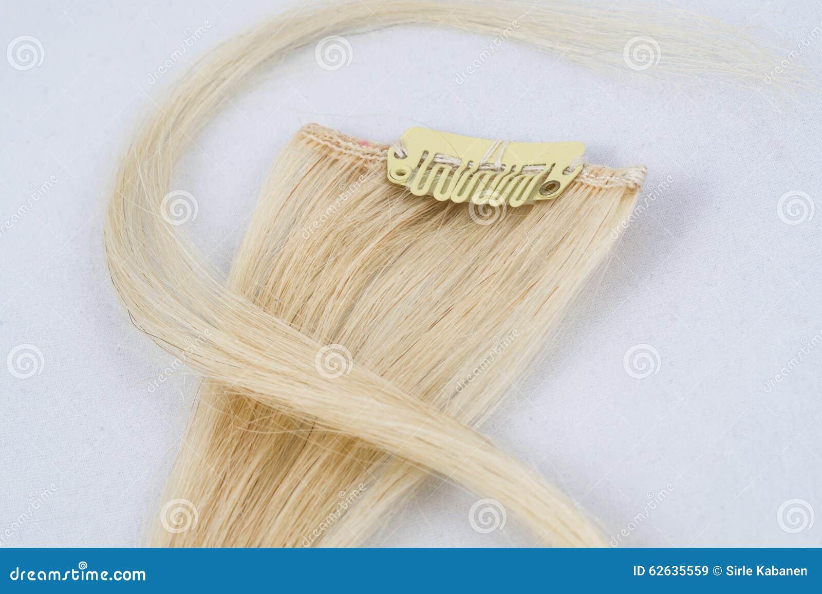 Blonde klem-in uitbreidingen