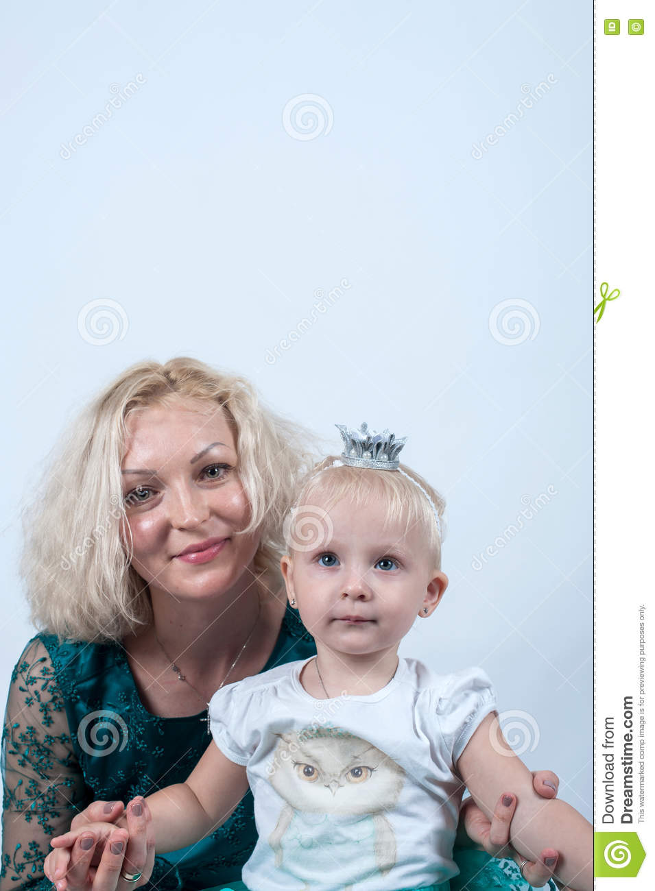Blonde mature and boy
