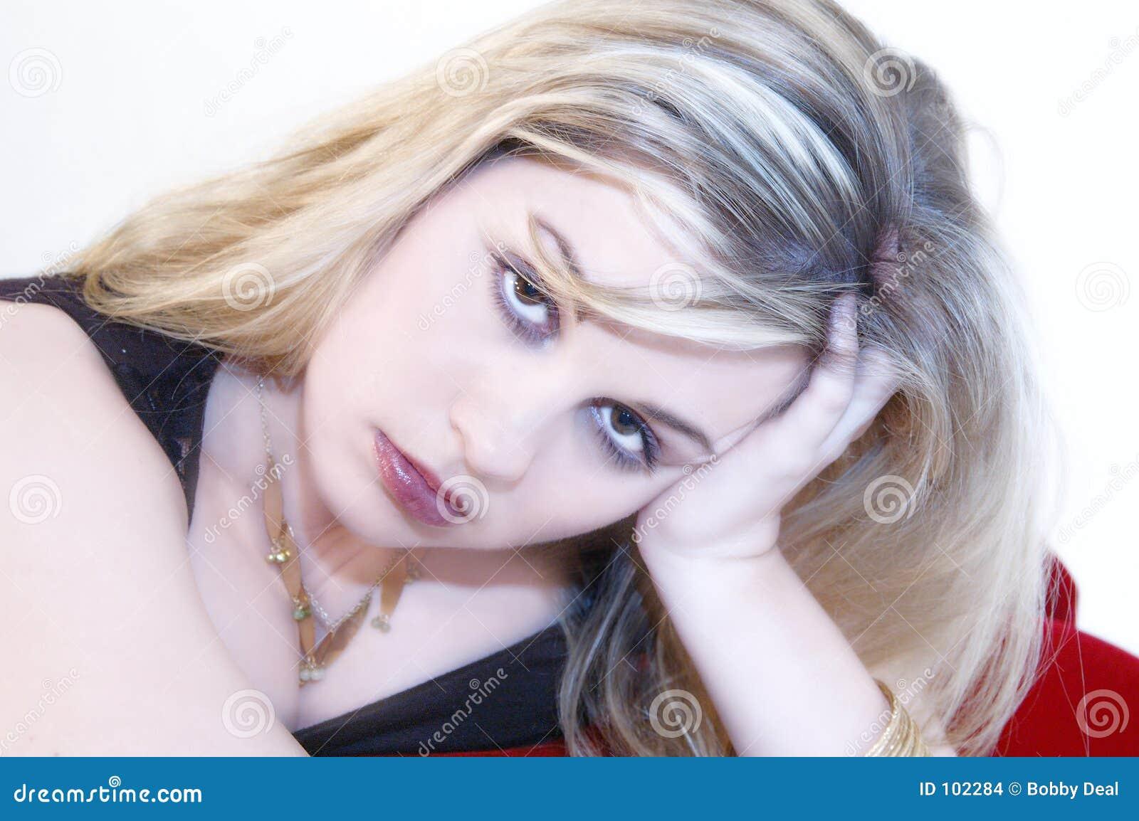 Blonde Pouty