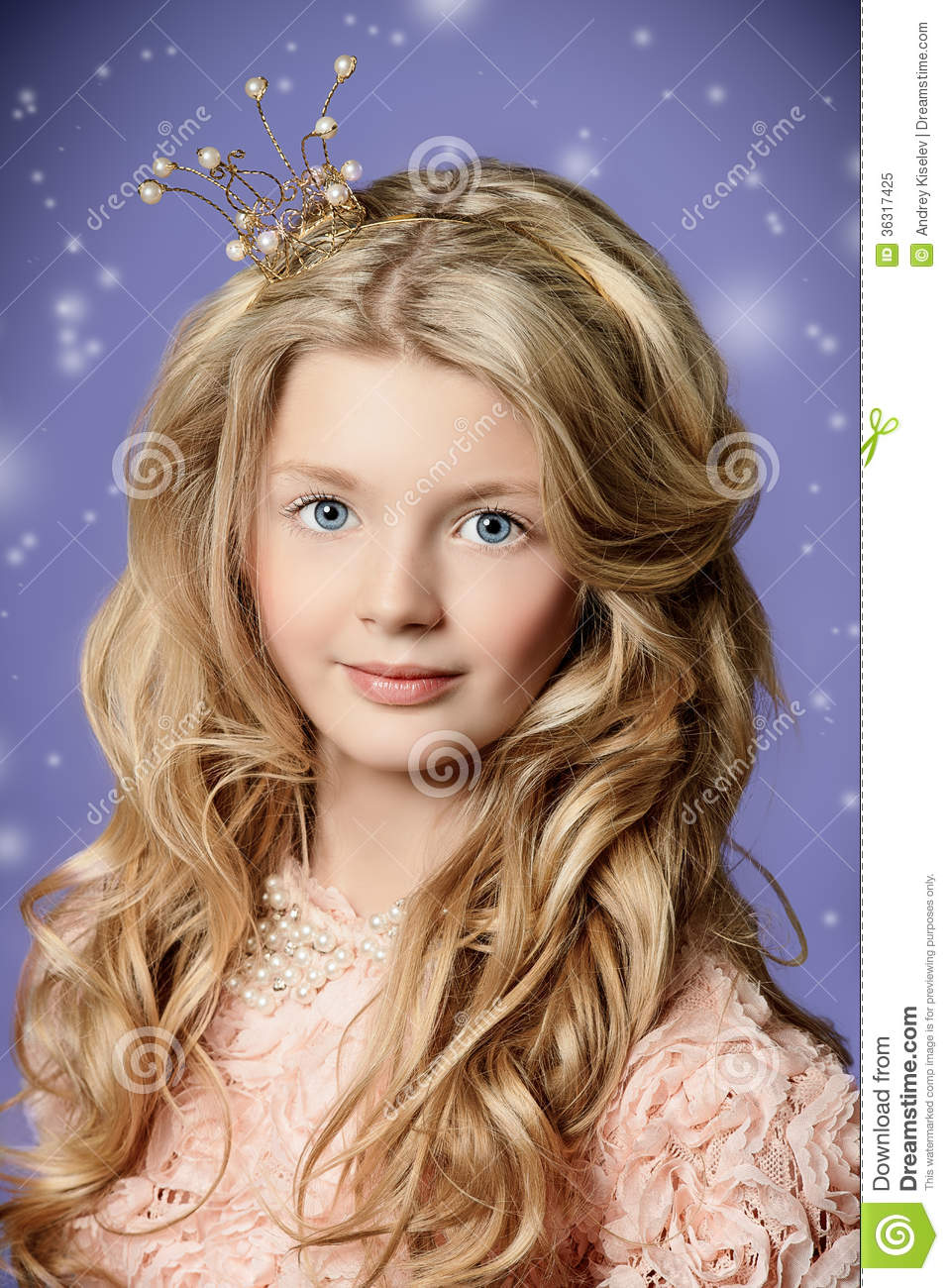 ... girl who looks like a little princess with a crown on her head