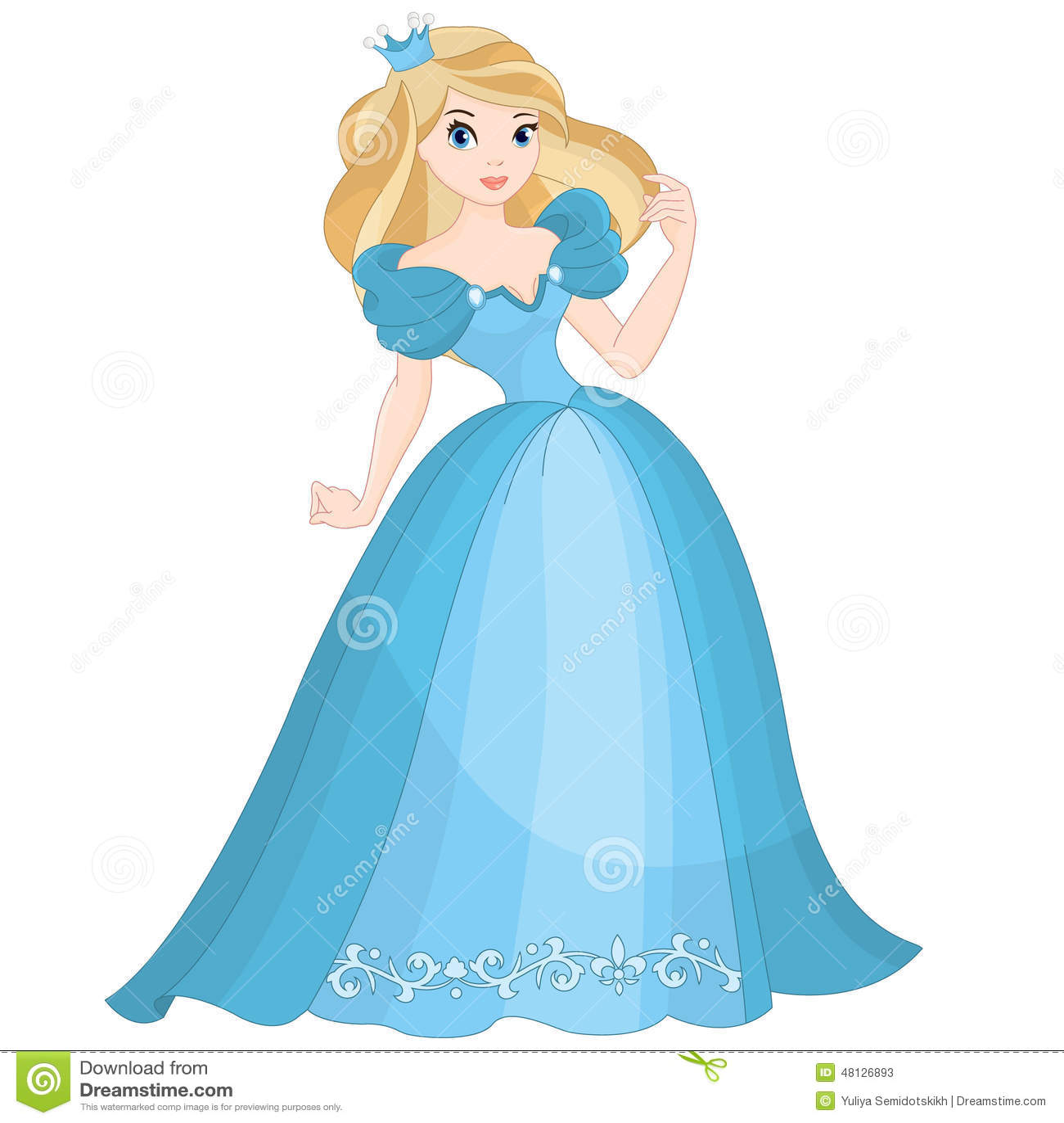 Blonde Prinzessin Der Märchen Vektor Abbildung - Illustration von ...
