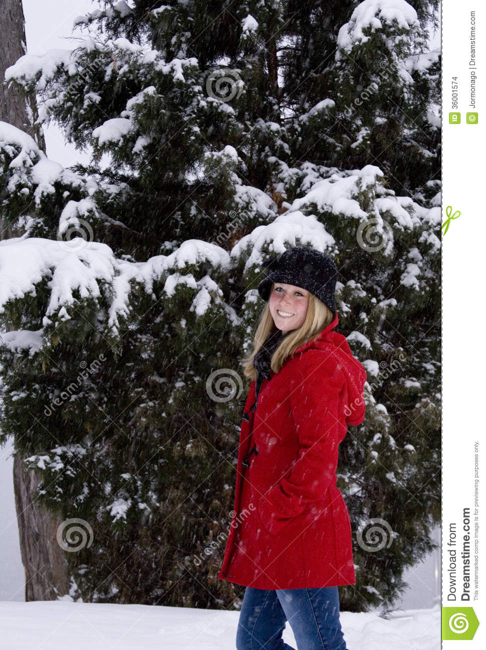 6cde9c8d2 Blonde in Snow stock photo. Image of snow
