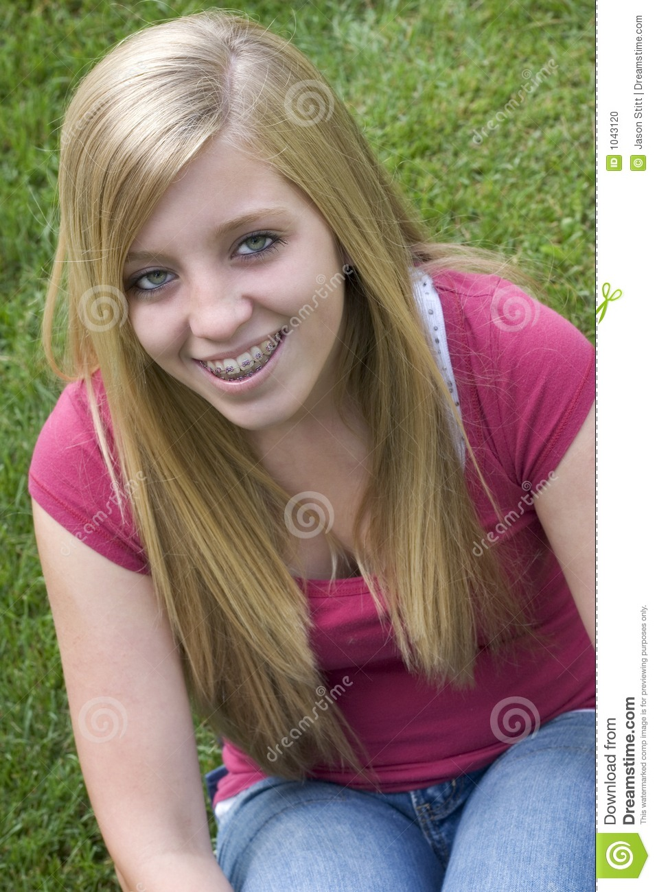 Blonde Teenager Stock Photo. Image Of Happiness, Portrait