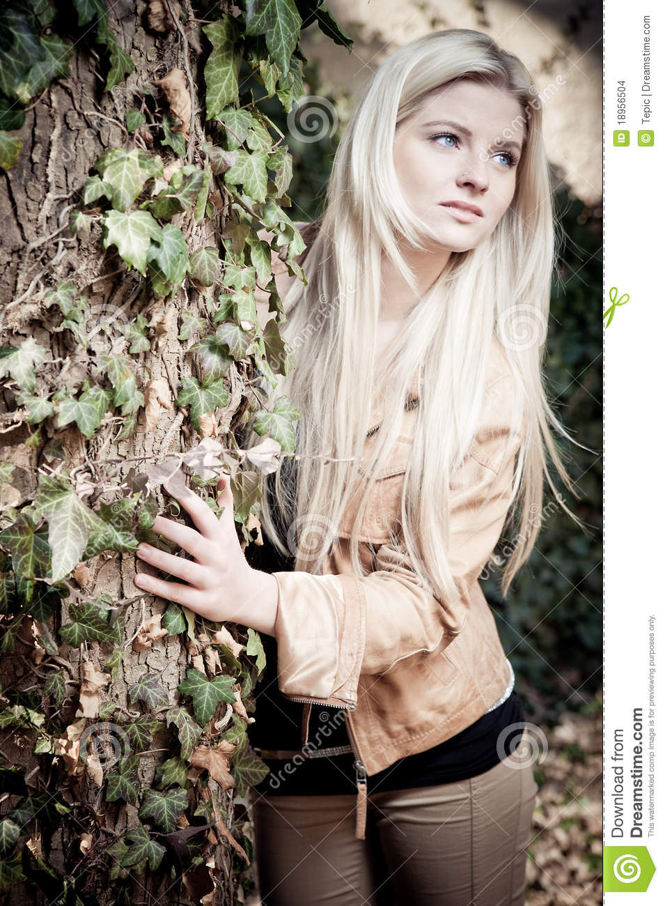 Blonde with Tree