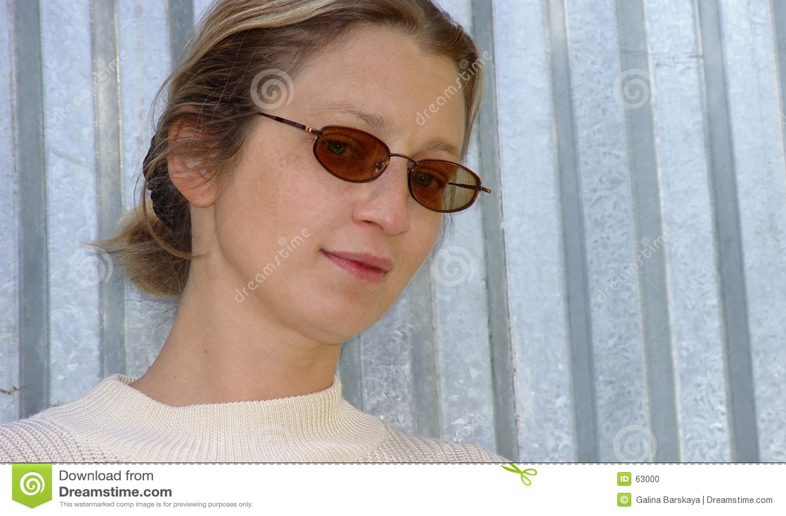 Blonde vrouw