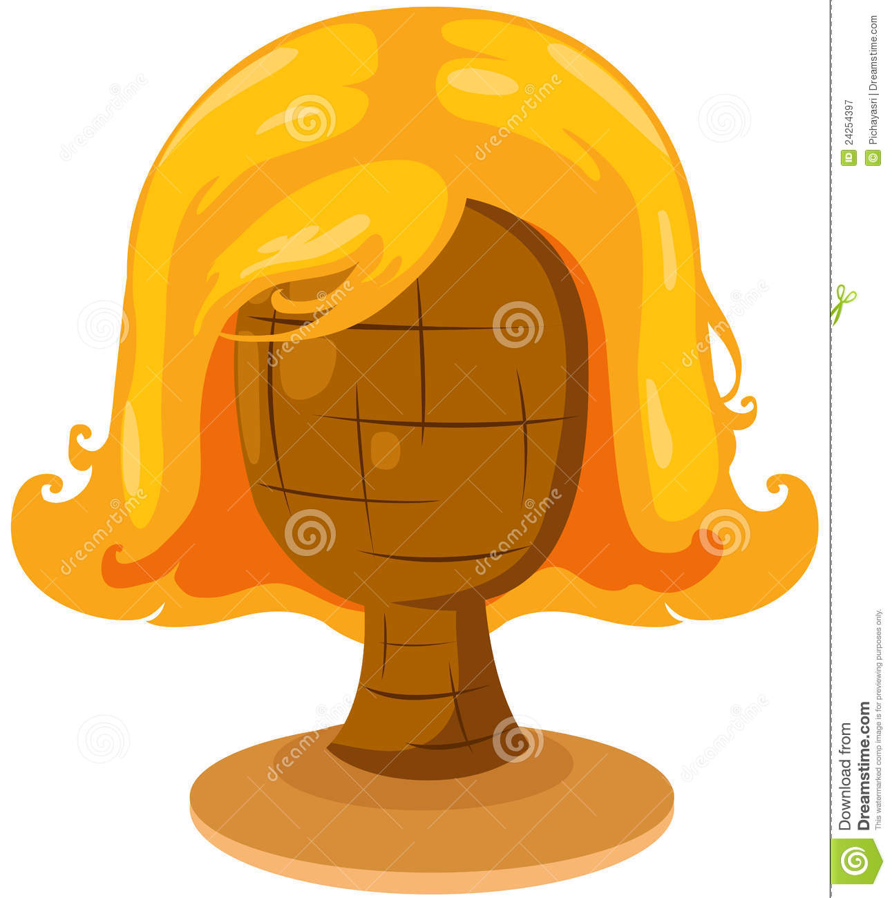 Blonde Wig On Mannequin Head Royalty Free Stock Photography - Image ...